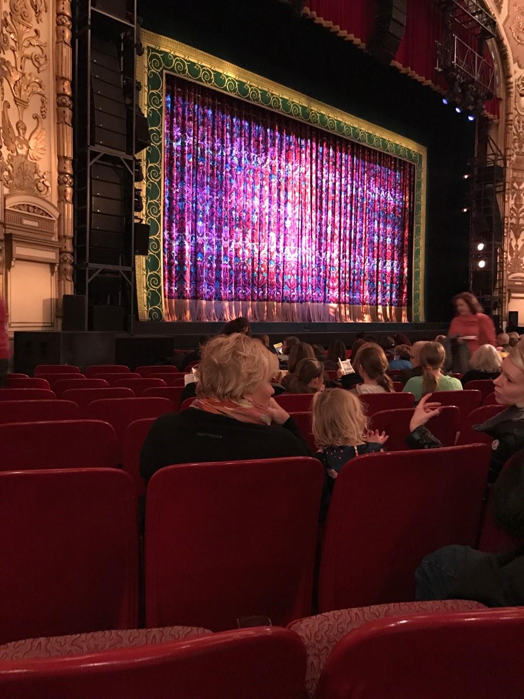 Cadillac Palace Theater Section Orchestra L Row L Seat 29