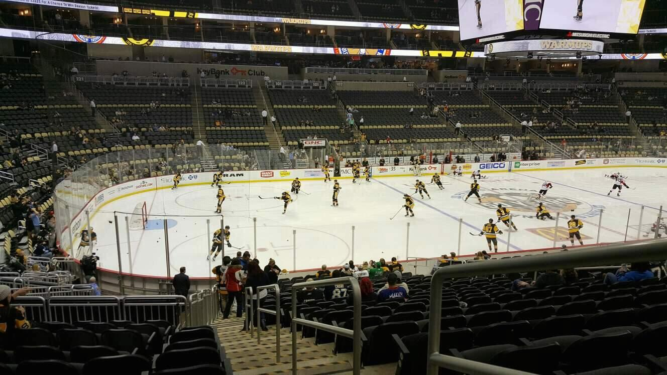 PPG Paints Arena Section 115 Row w Seat 1