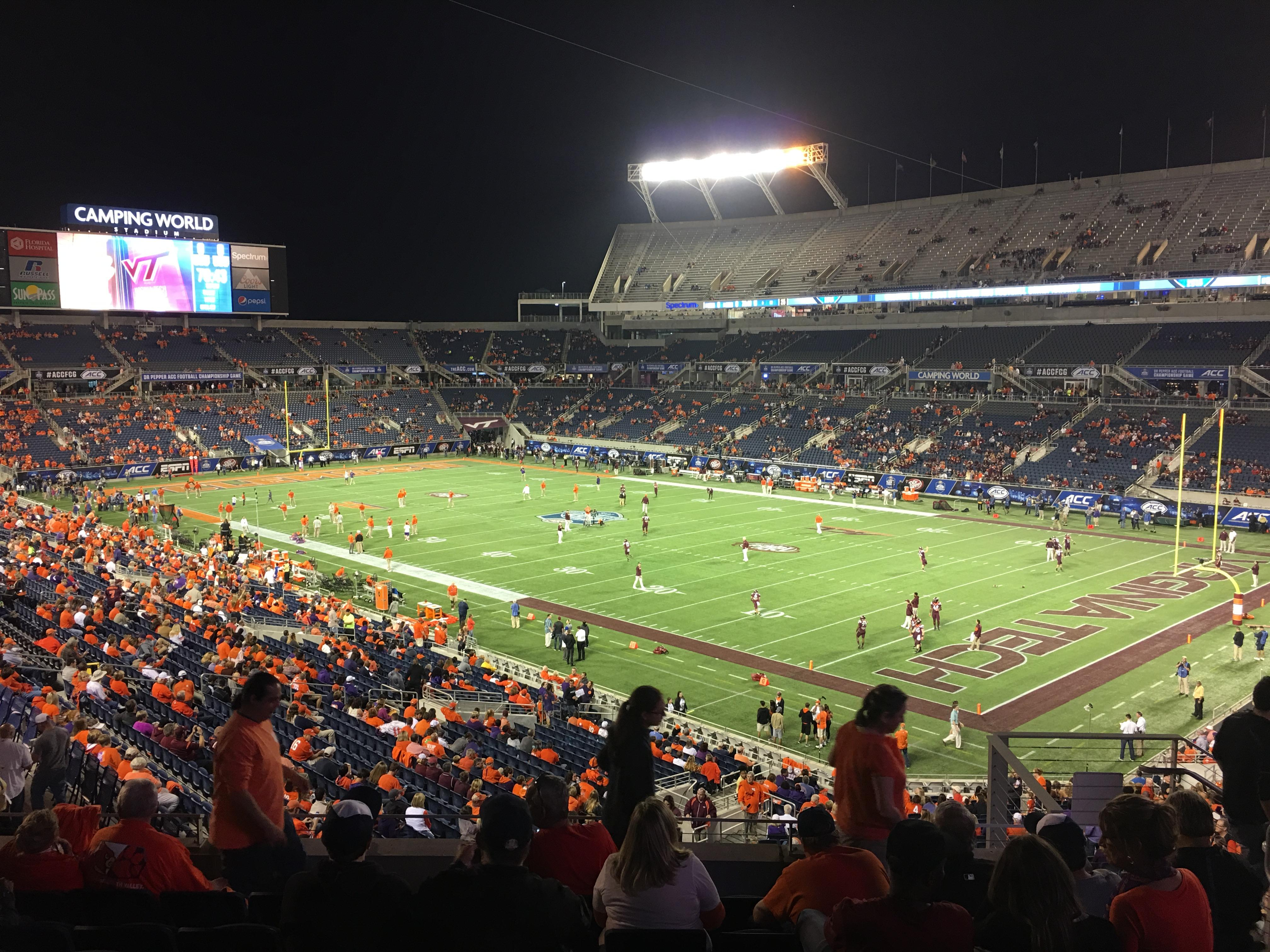 Camping World Stadium Section P01 Row K Seat 07