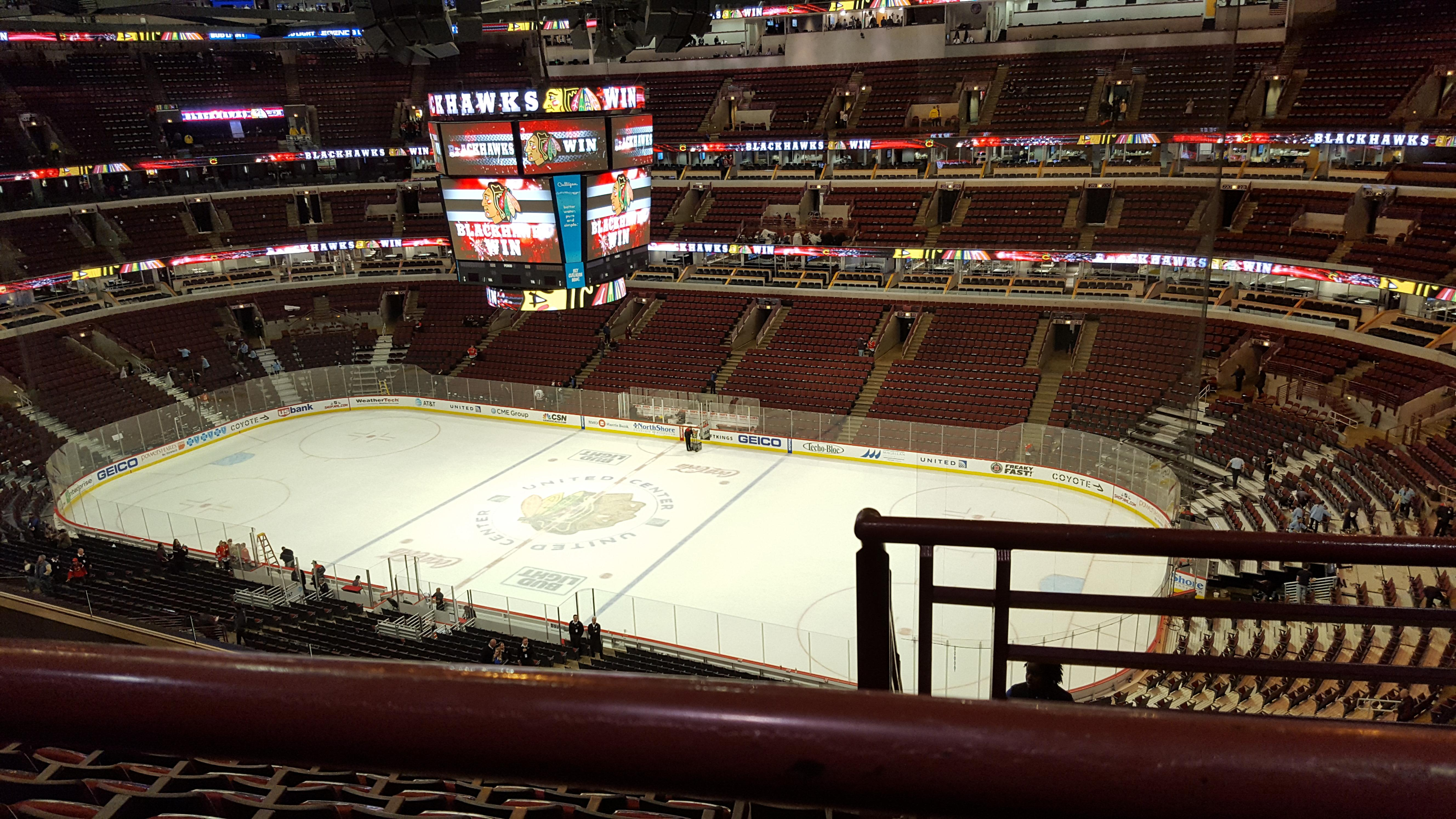 United Center Section 332 Row 9 Seat 1