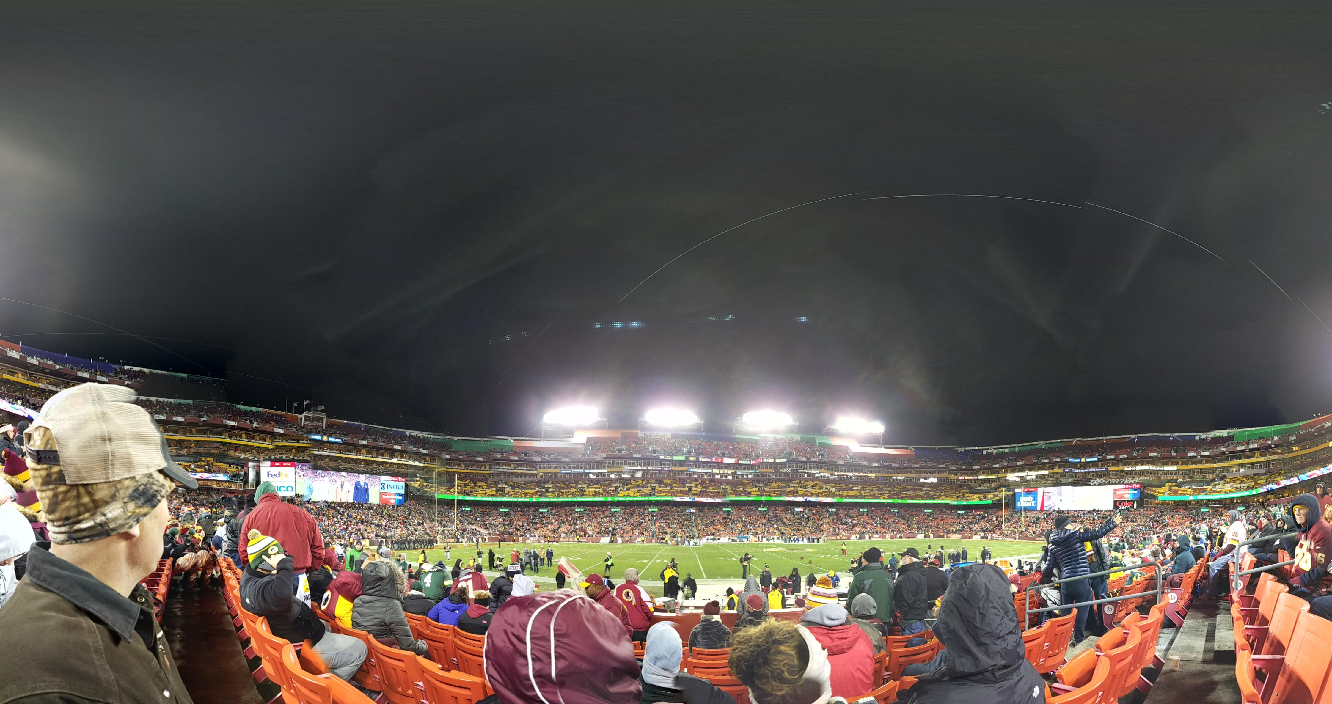 FedEx Field Section 120 Row 7 Seat 8