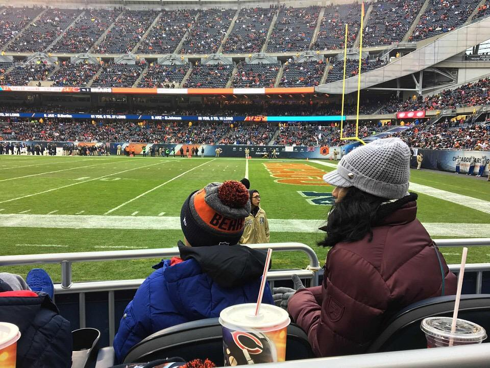Soldier Field Section 104 Row 1 Seat 11