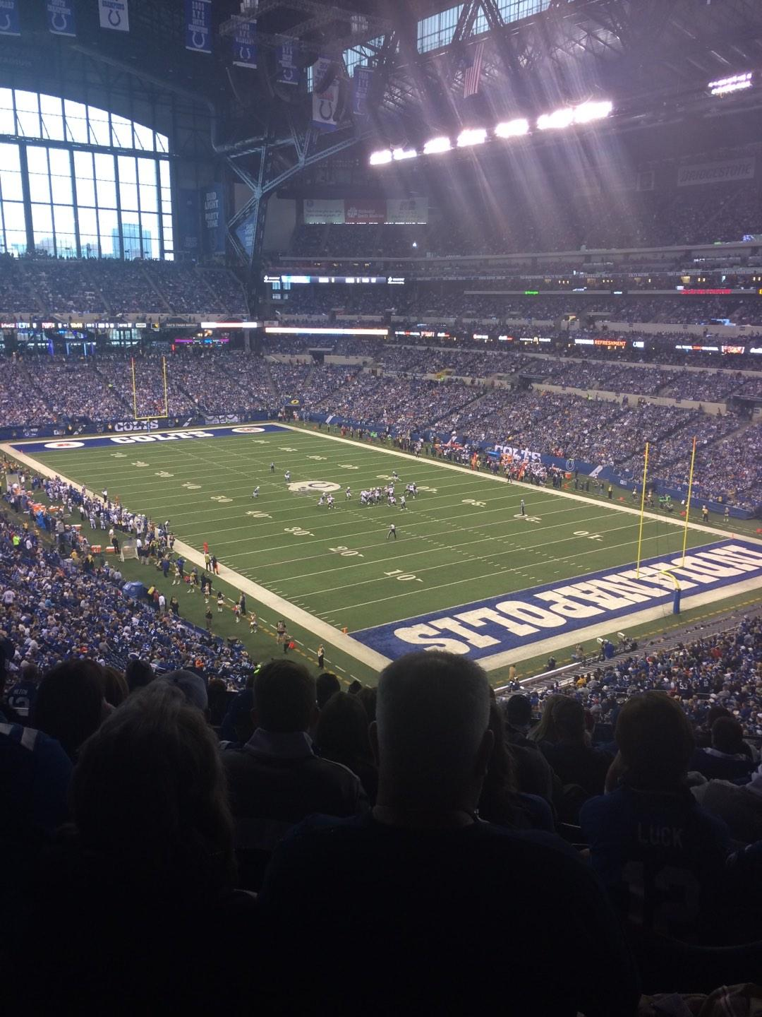 Lucas Oil Stadium Section 431 Row 9 Seat 9