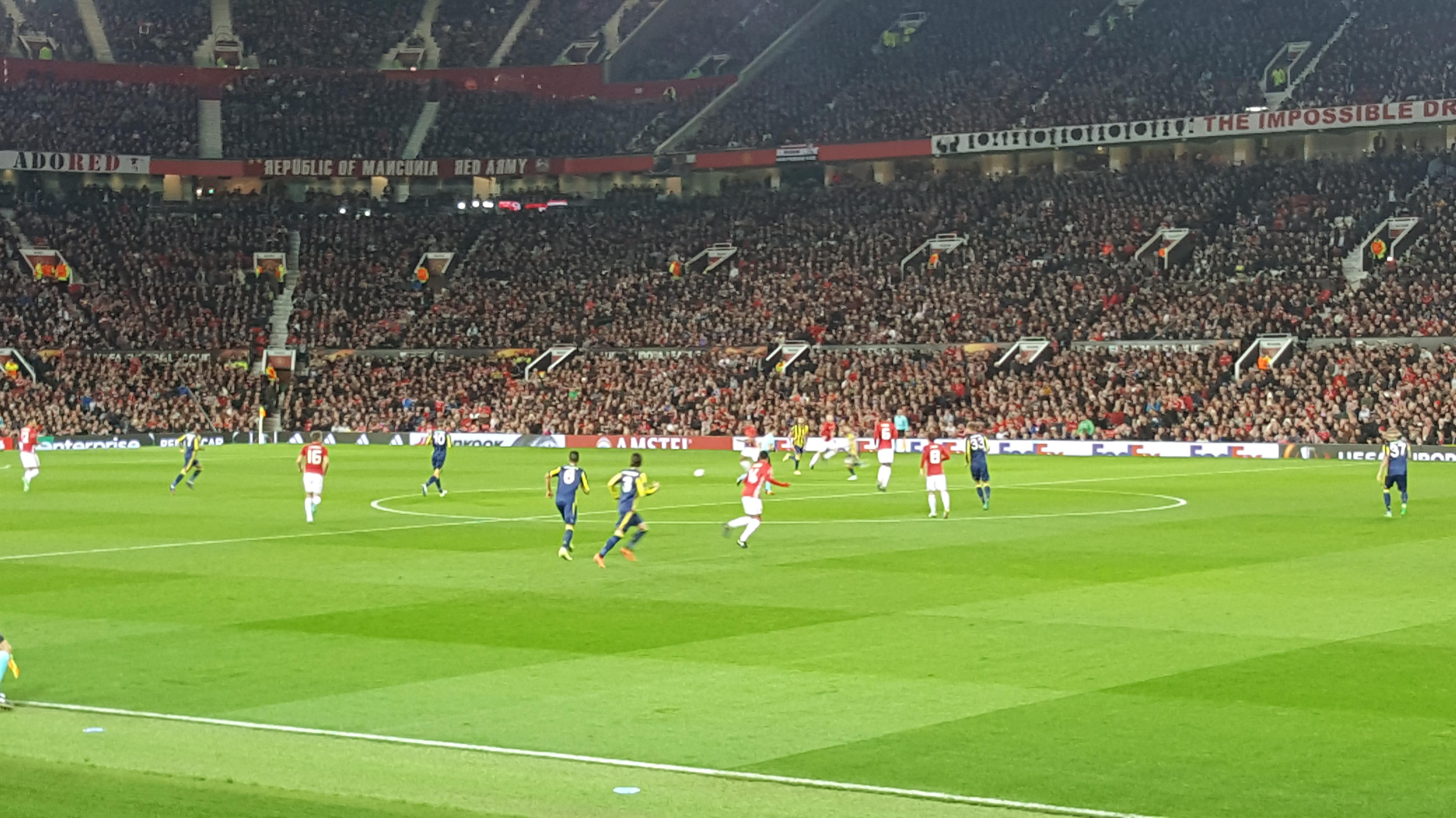 Old Trafford Section Sth127 Row 4 Seat 53