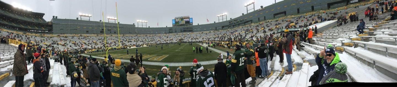 Lambeau Field Section 135 Row 6 Seat 8