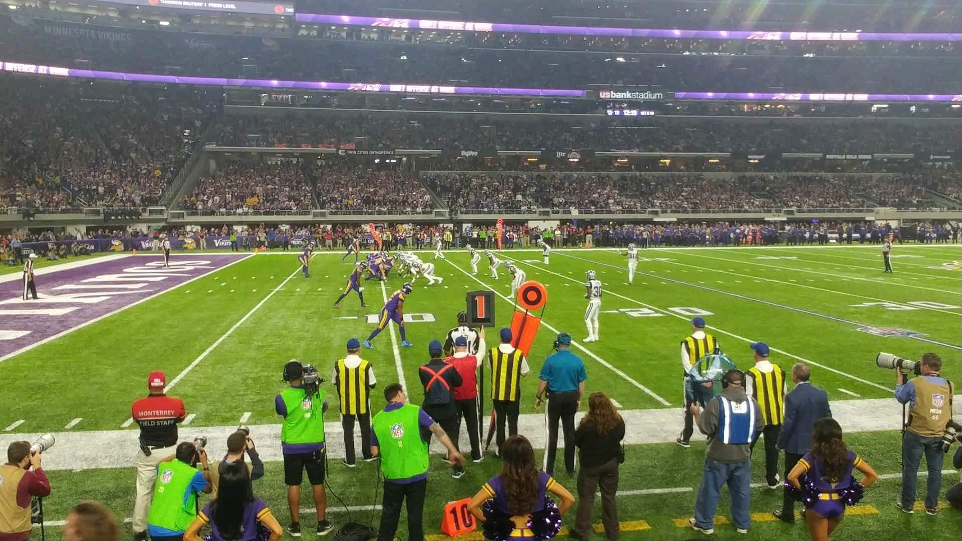 U.S. Bank Stadium Section 112 Row 2 Seat 13