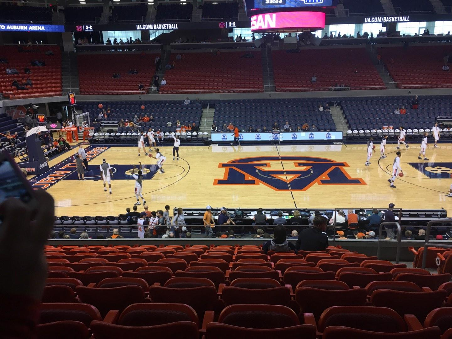 Auburn Arena Section 111 Row 18 Seat 3