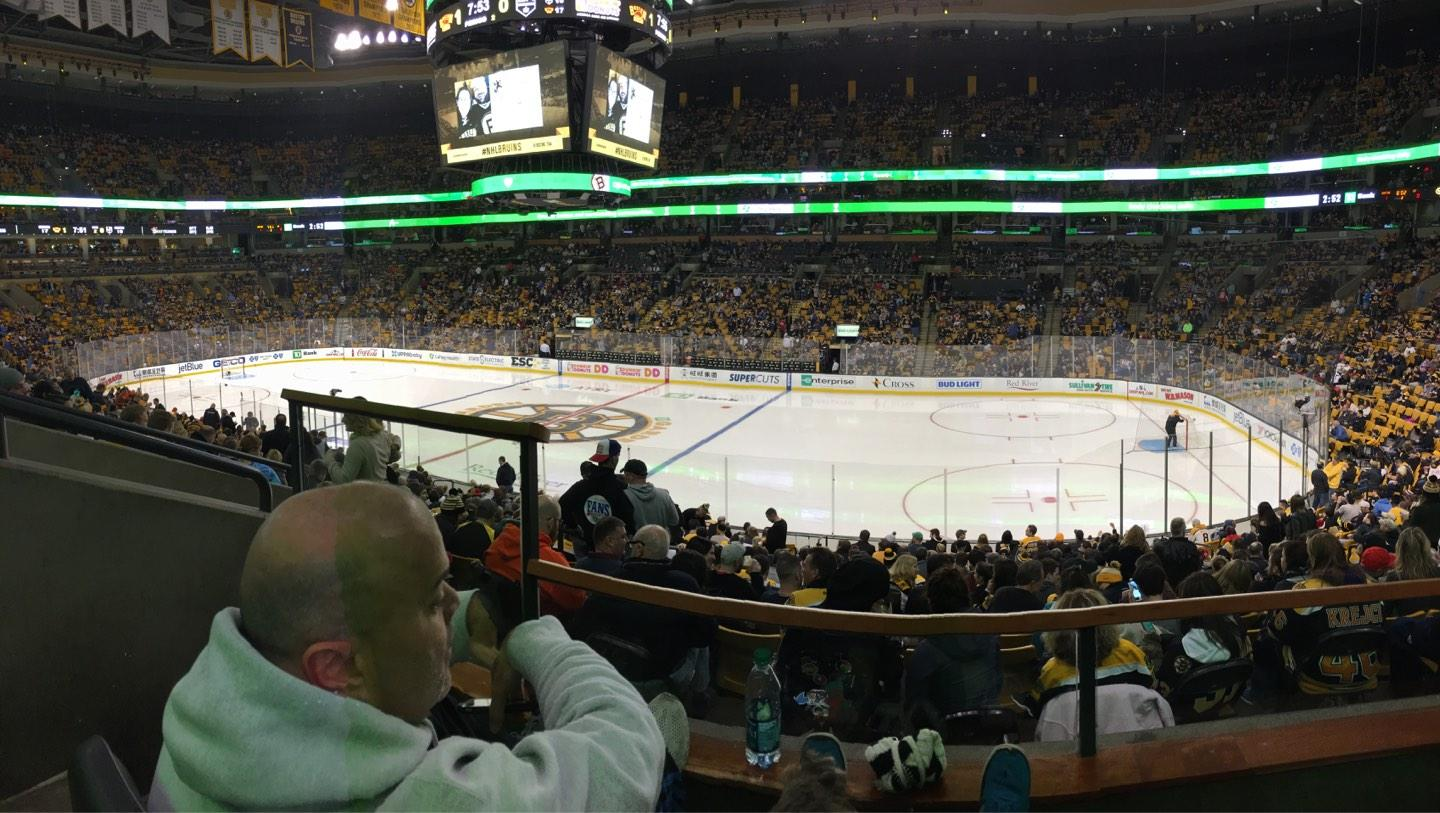 TD Garden Section CLUB 137 Row BB Seat 9