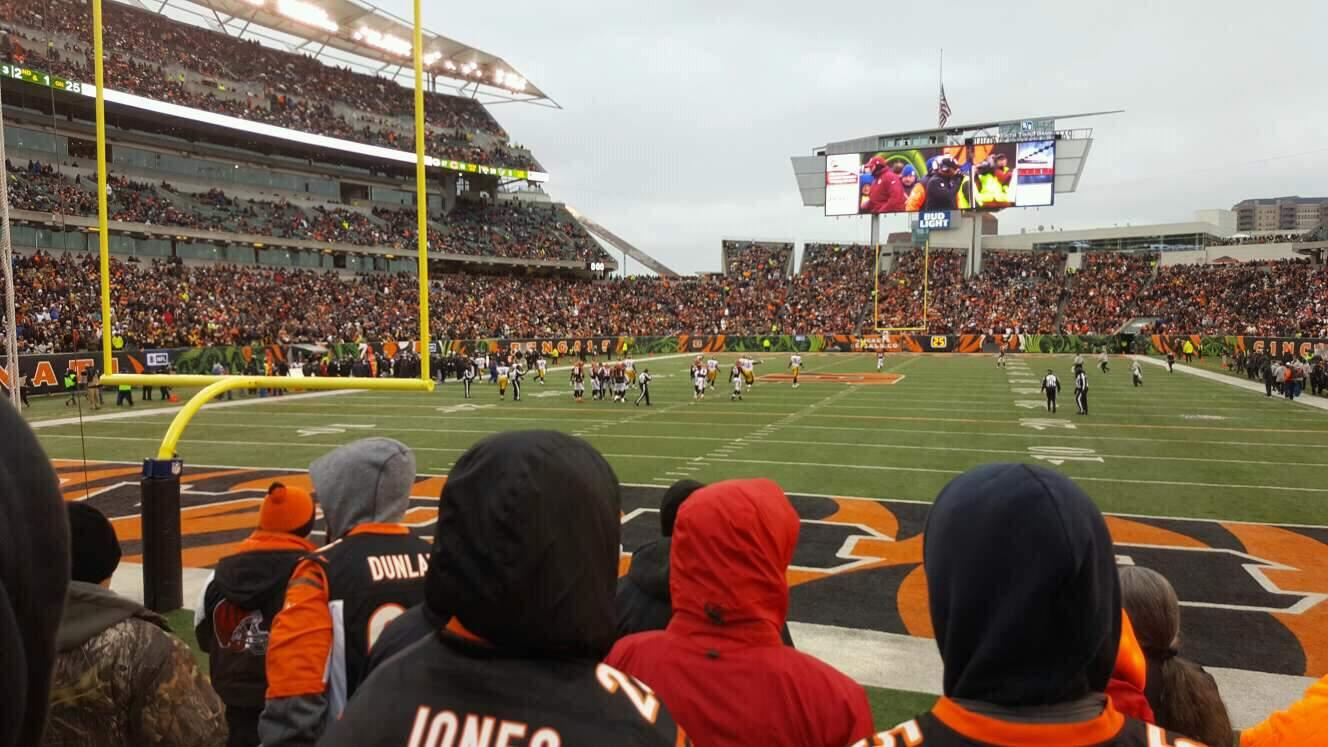 Paul Brown Stadium Section 124 Row 5 Seat 16