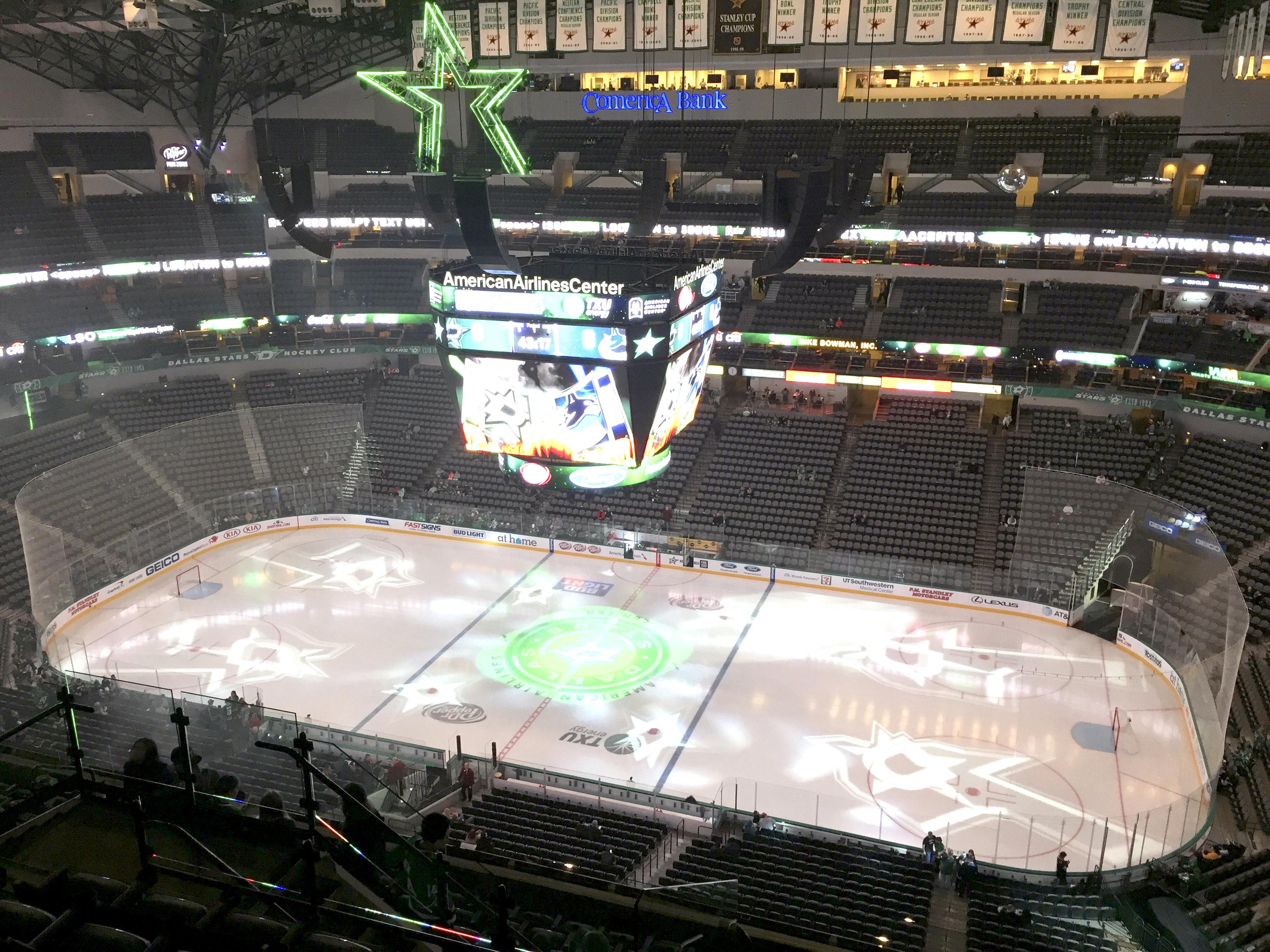 American Airlines Center Section 324 Row M