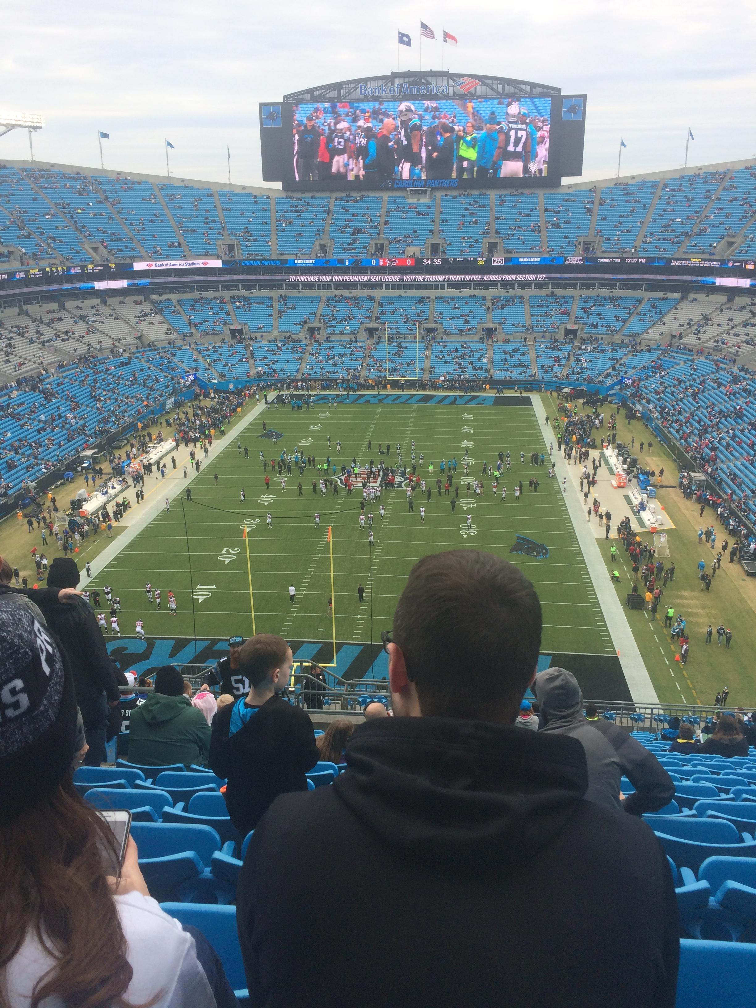 Bank of America Stadium Section 527 Row 17 Seat 21