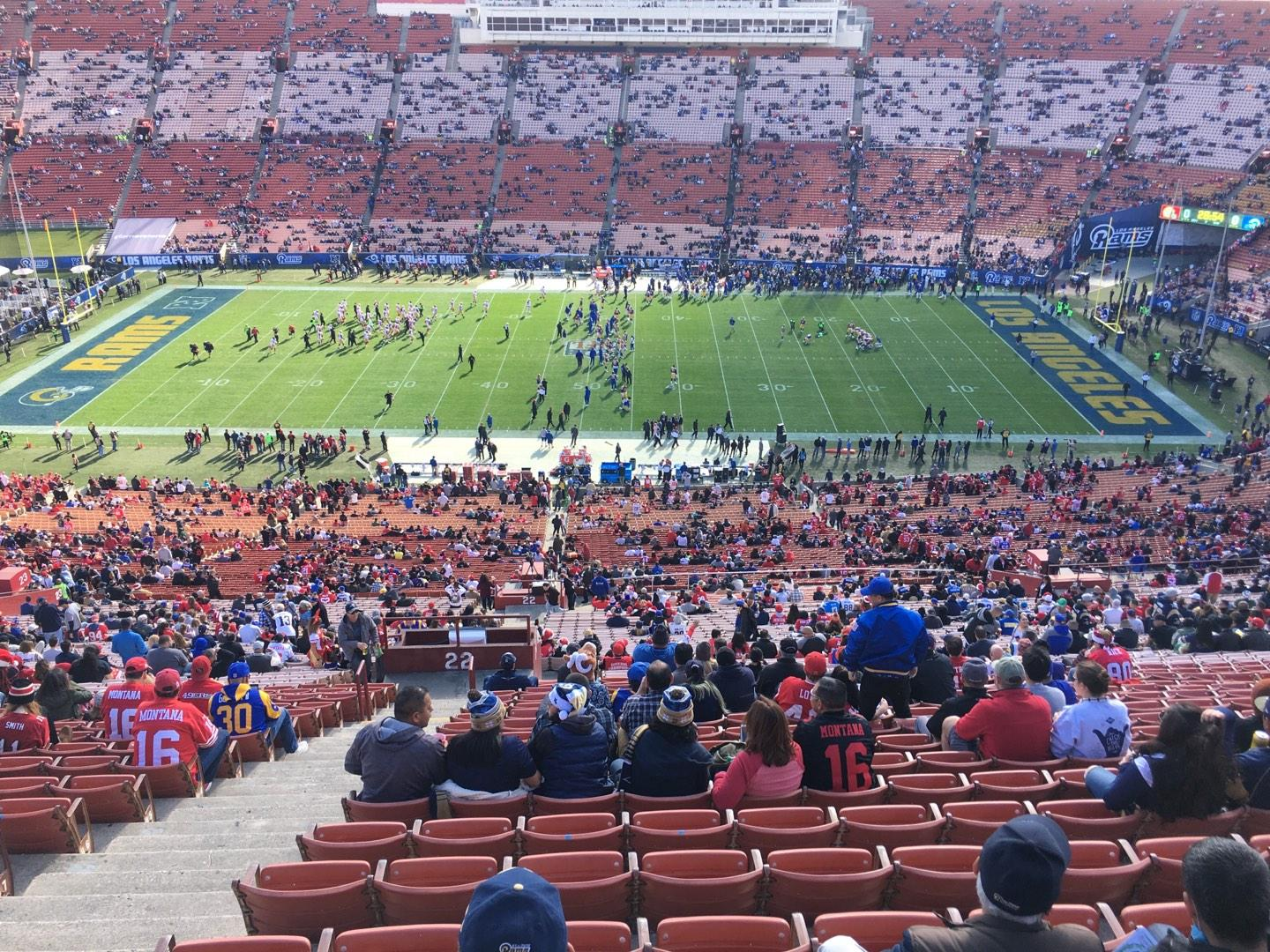 Los Angeles Memorial Coliseum Section 22H Row 93 Seat 105