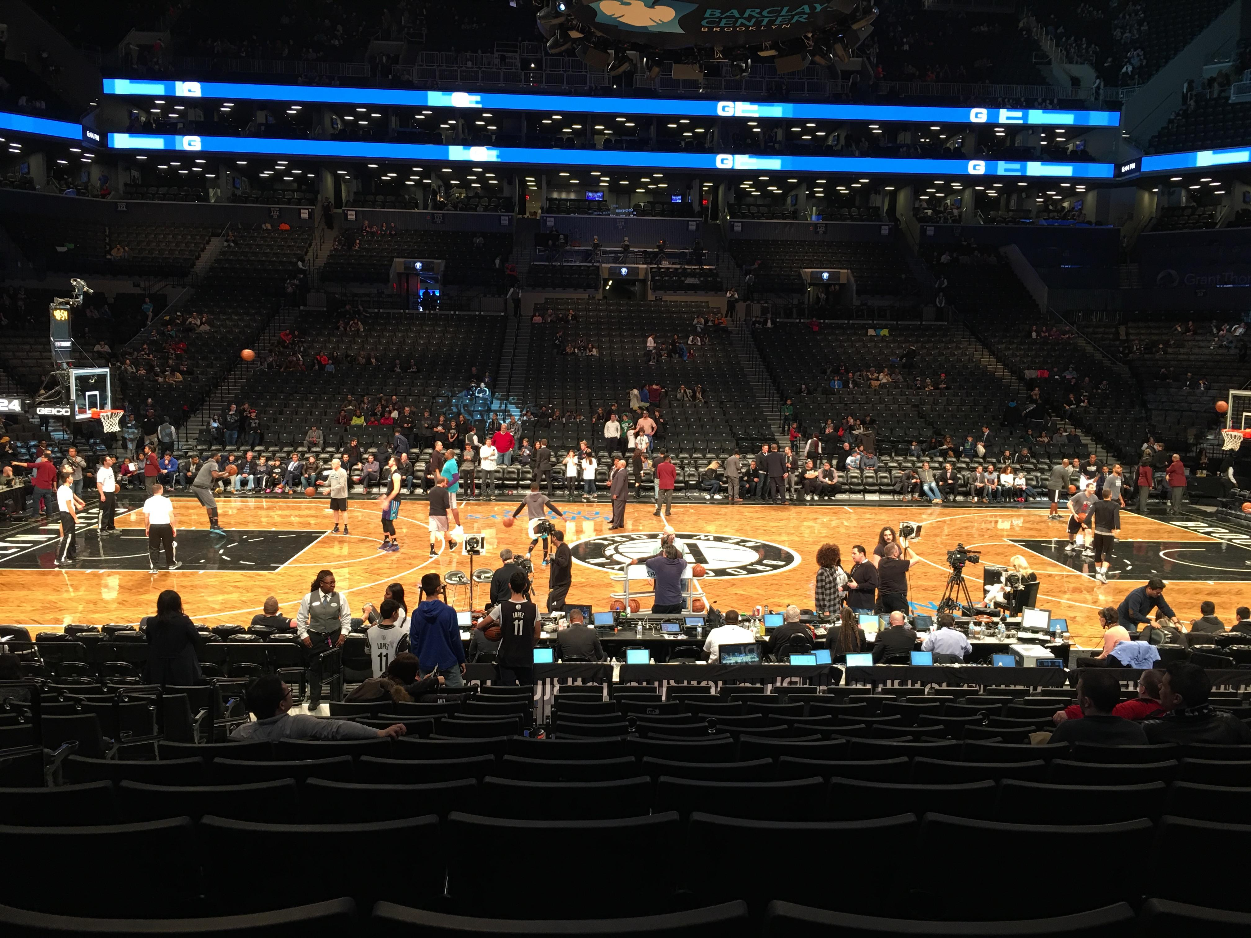 Barclays center Section 8 Row 13 Seat 15