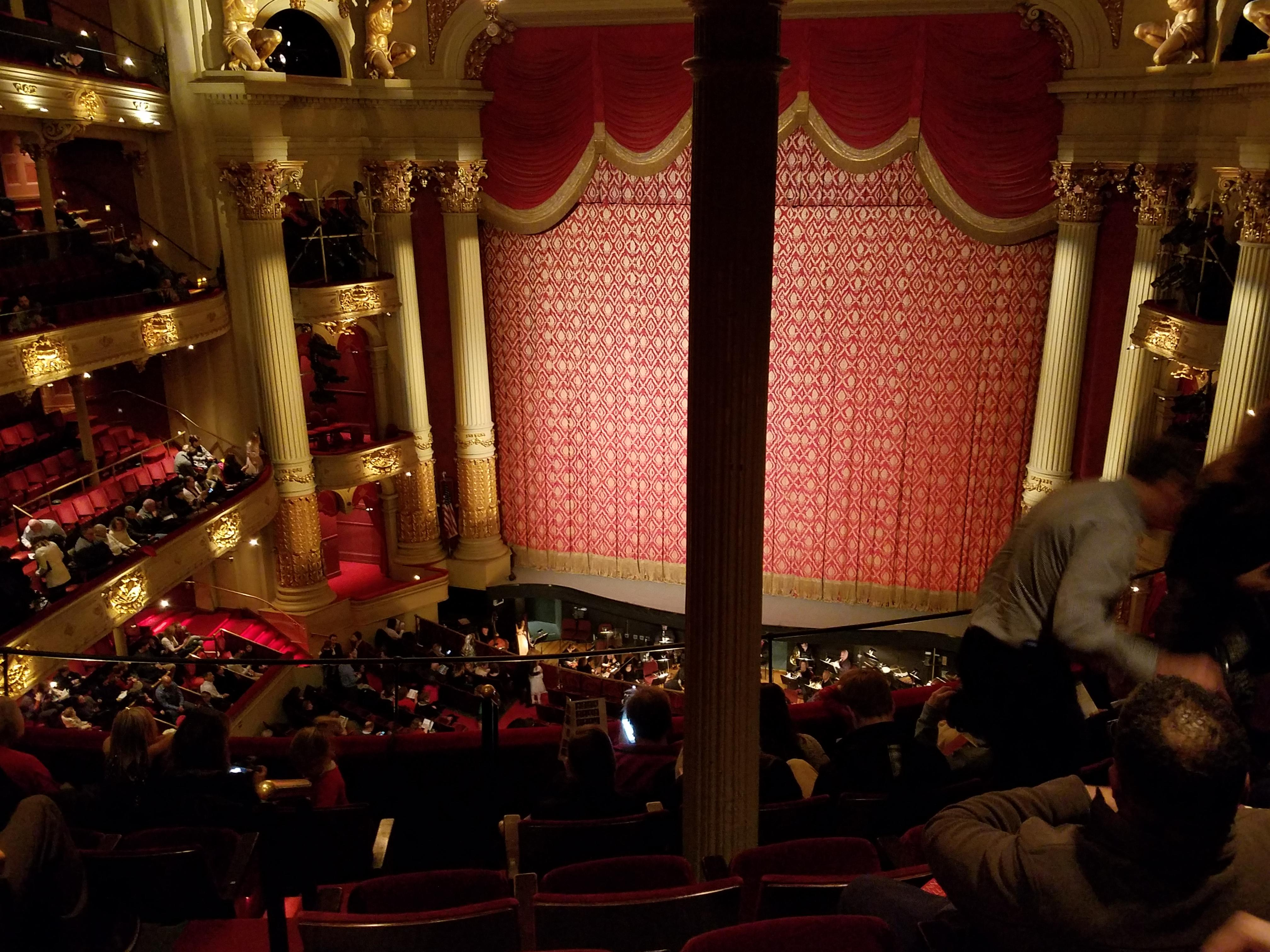Academy of Music Section Family Circle D Row F Seat 6