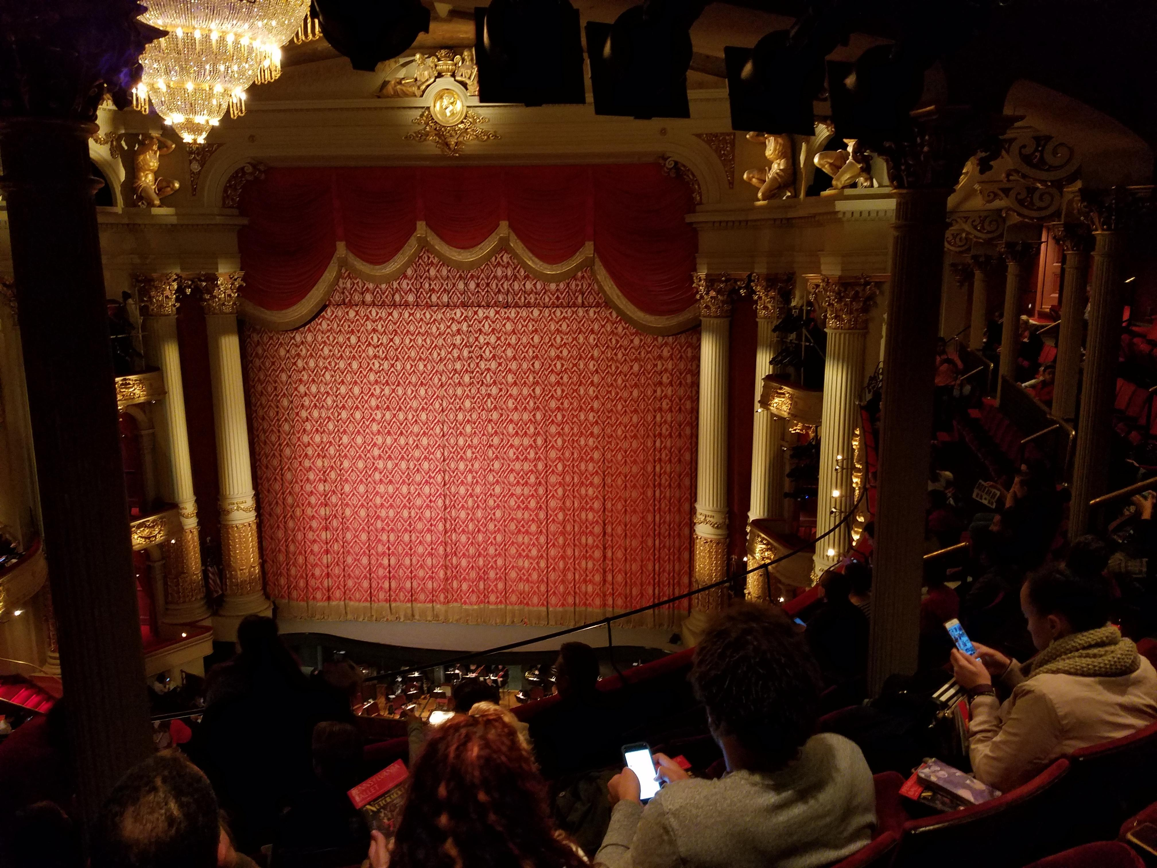 Academy of Music Section Family Circle D Row F Seat 12