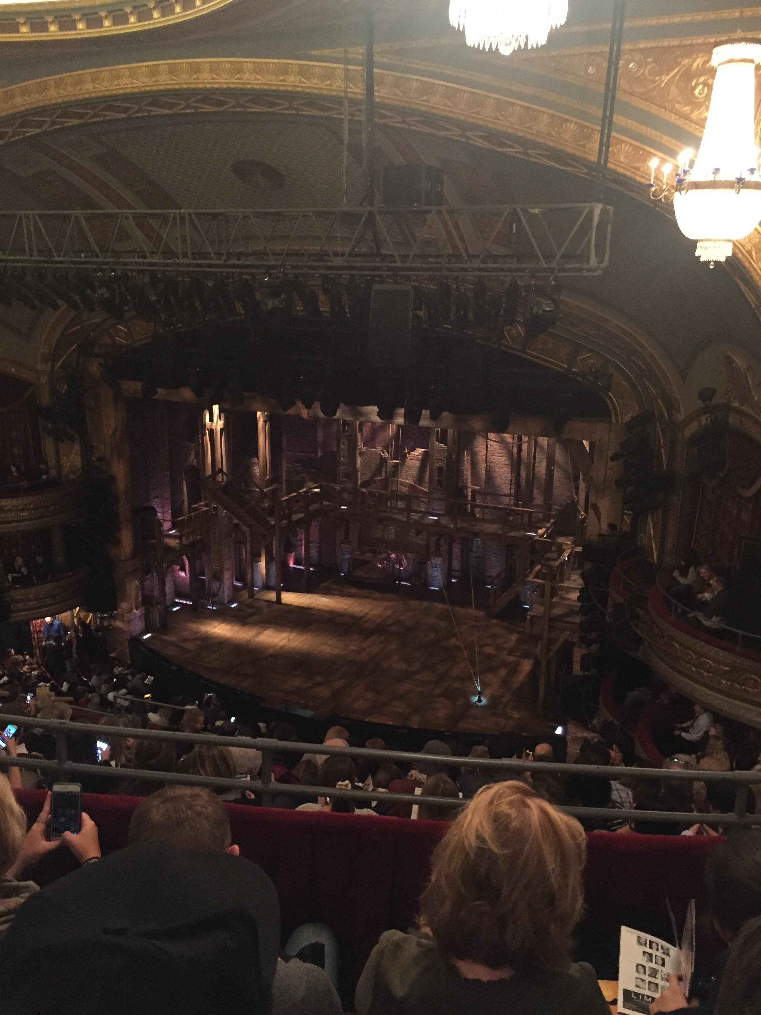 Richard Rodgers Theatre Section Rear Mezzanine R Row C Seat 24