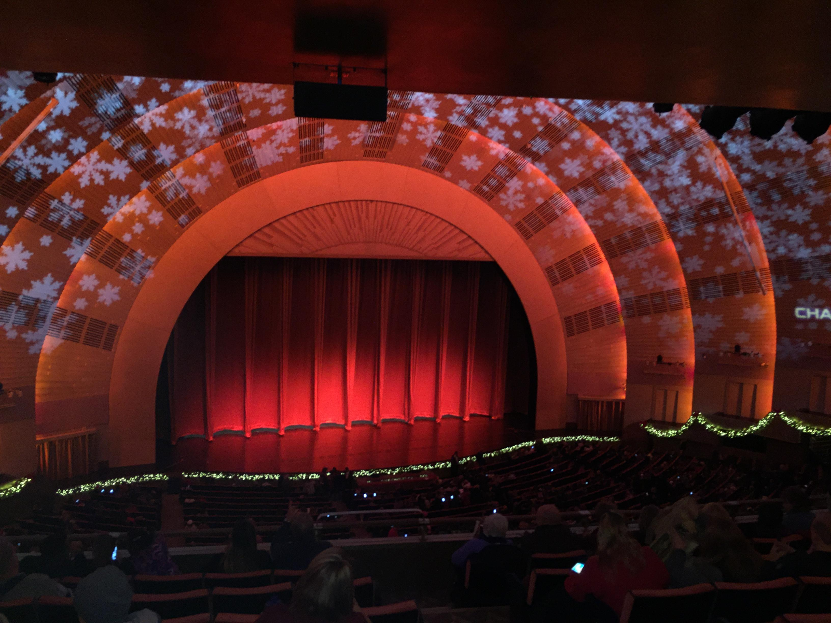 Radio City Music Hall Section 2nd Mezzanine 6 Row G Seat 604