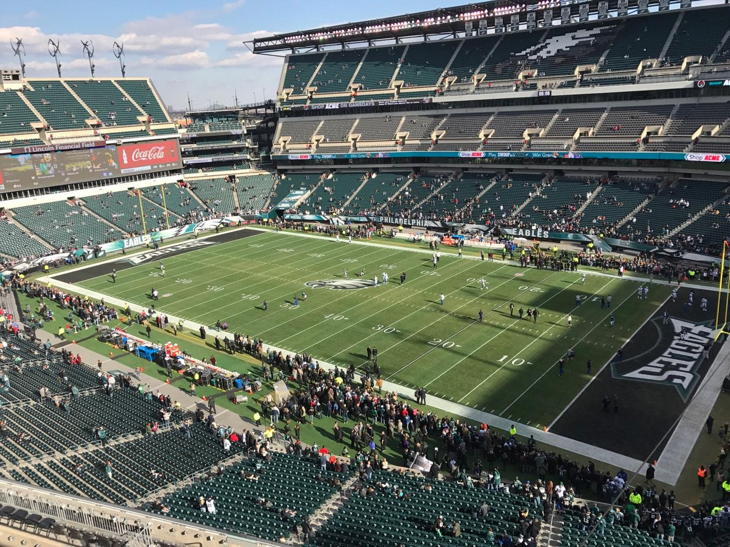 Lincoln Financial Field Section 206 Row 1 Seat 15