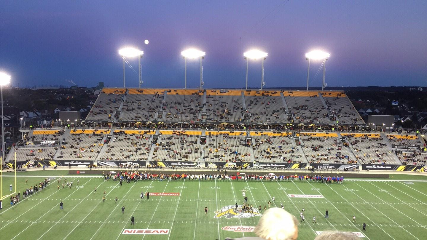 Tim Hortons Field Section 205 Row 7 Seat 28