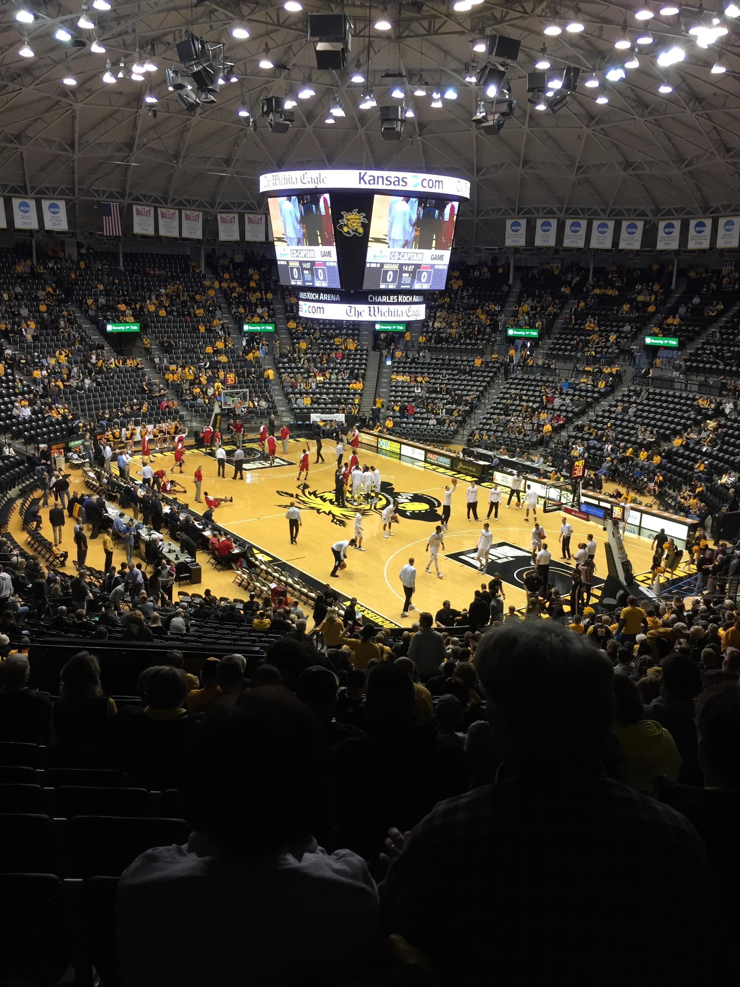 Charles Koch arena Section 118 Row 32 Seat 19