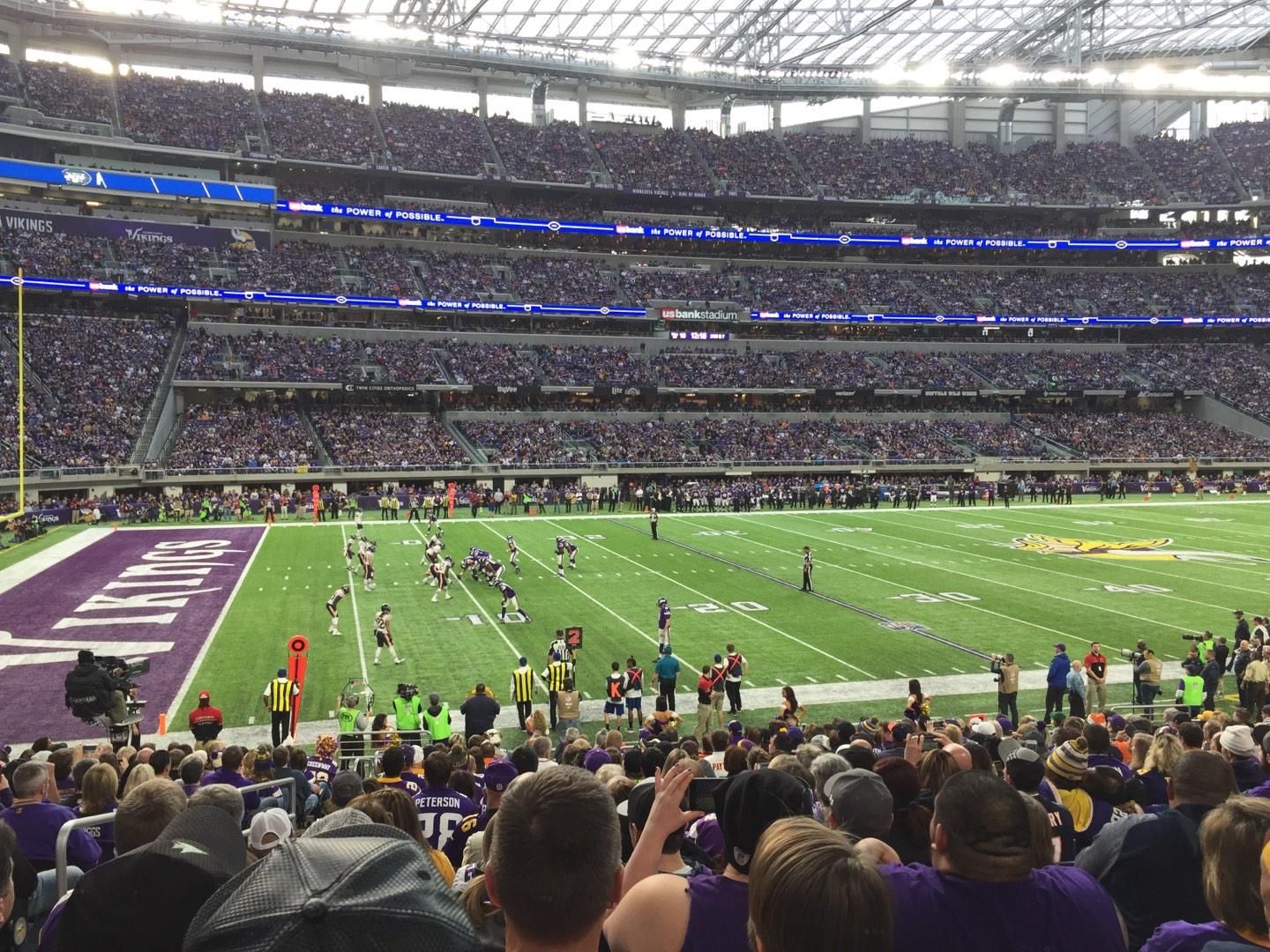 U.S. Bank Stadium Section 112 Row 18 Seat 20