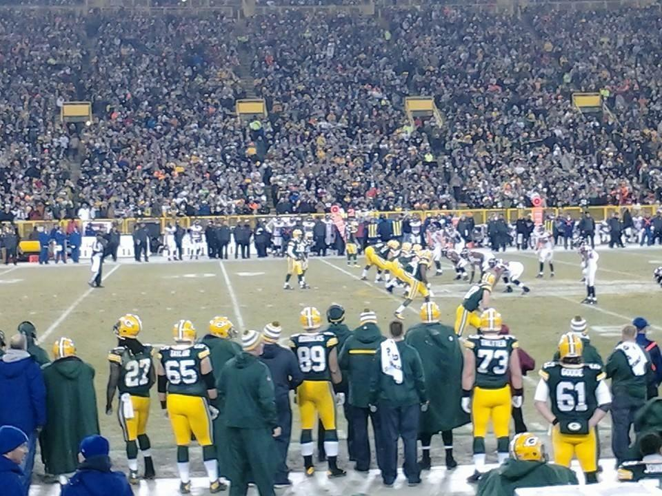 Lambeau Field Section 118 Row 7 Seat 9