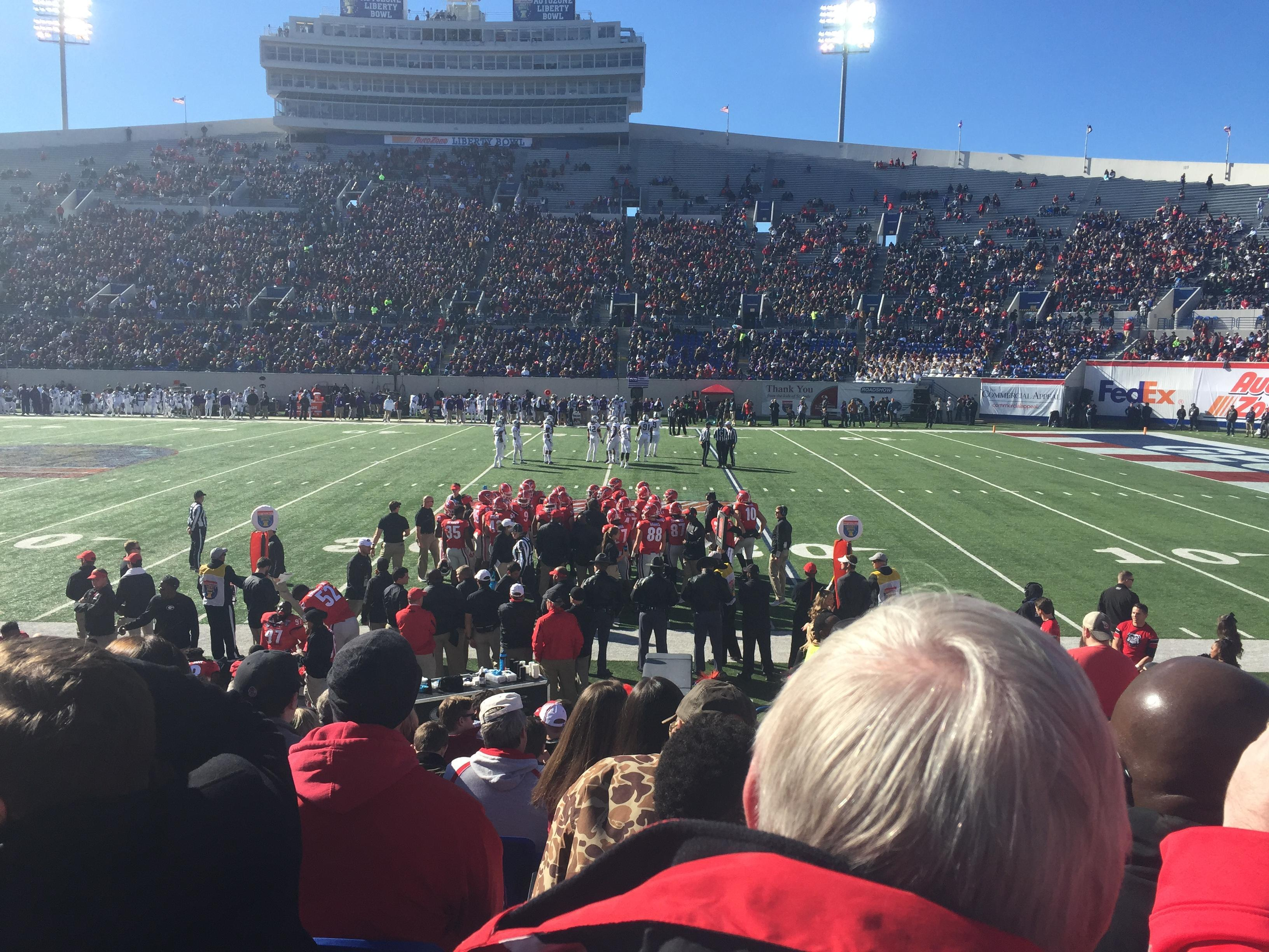 Liberty Bowl Memorial Stadium Section 119 Row 14 Seat 2