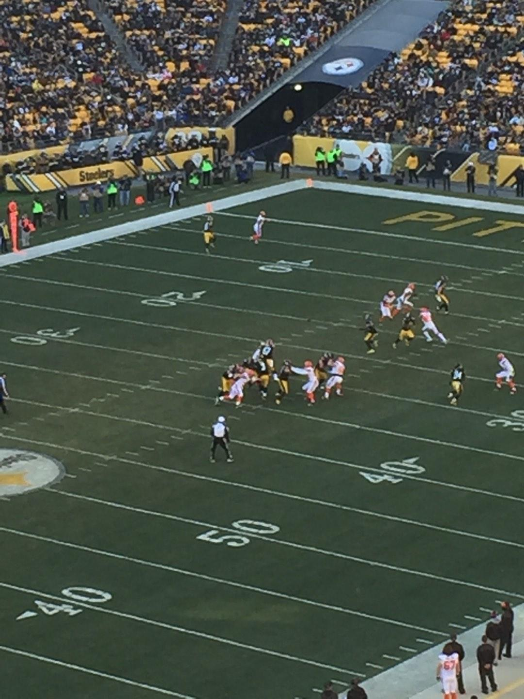 Heinz Field Section 504 Row G Seat 4