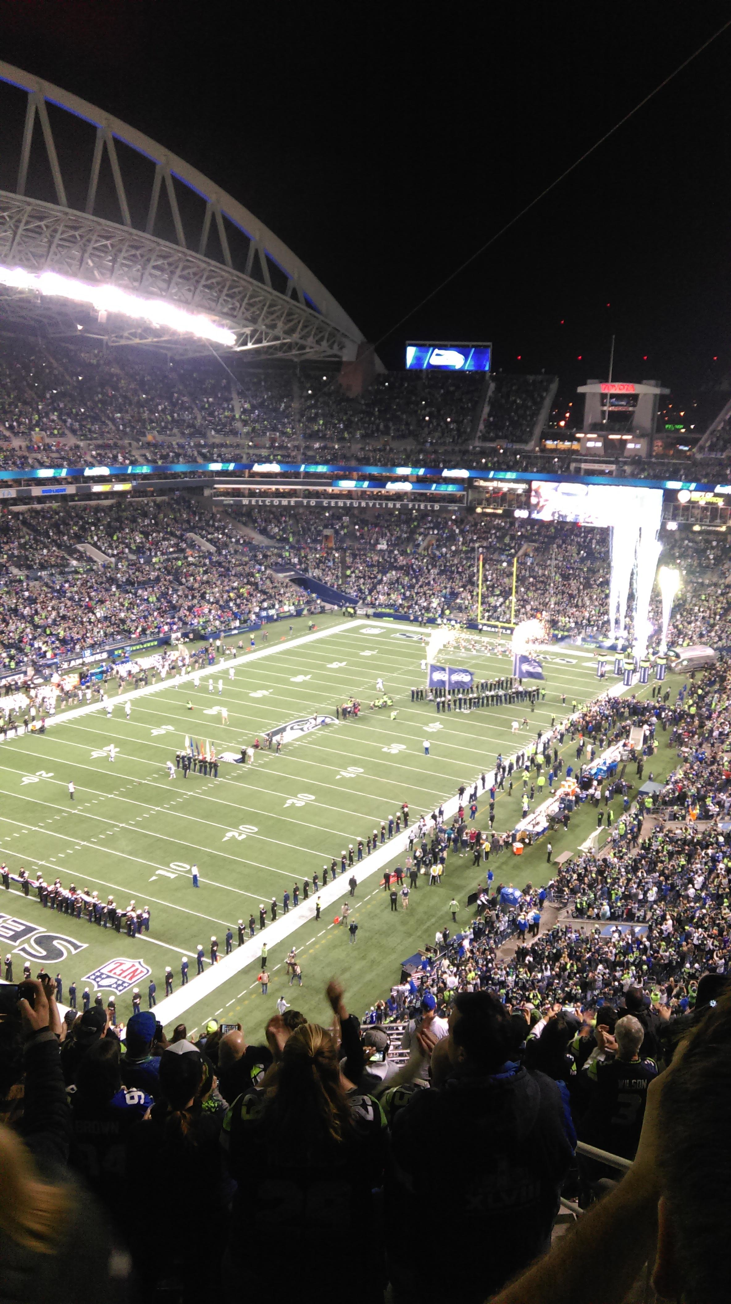 CenturyLink Field Section 344 Row W Seat 2