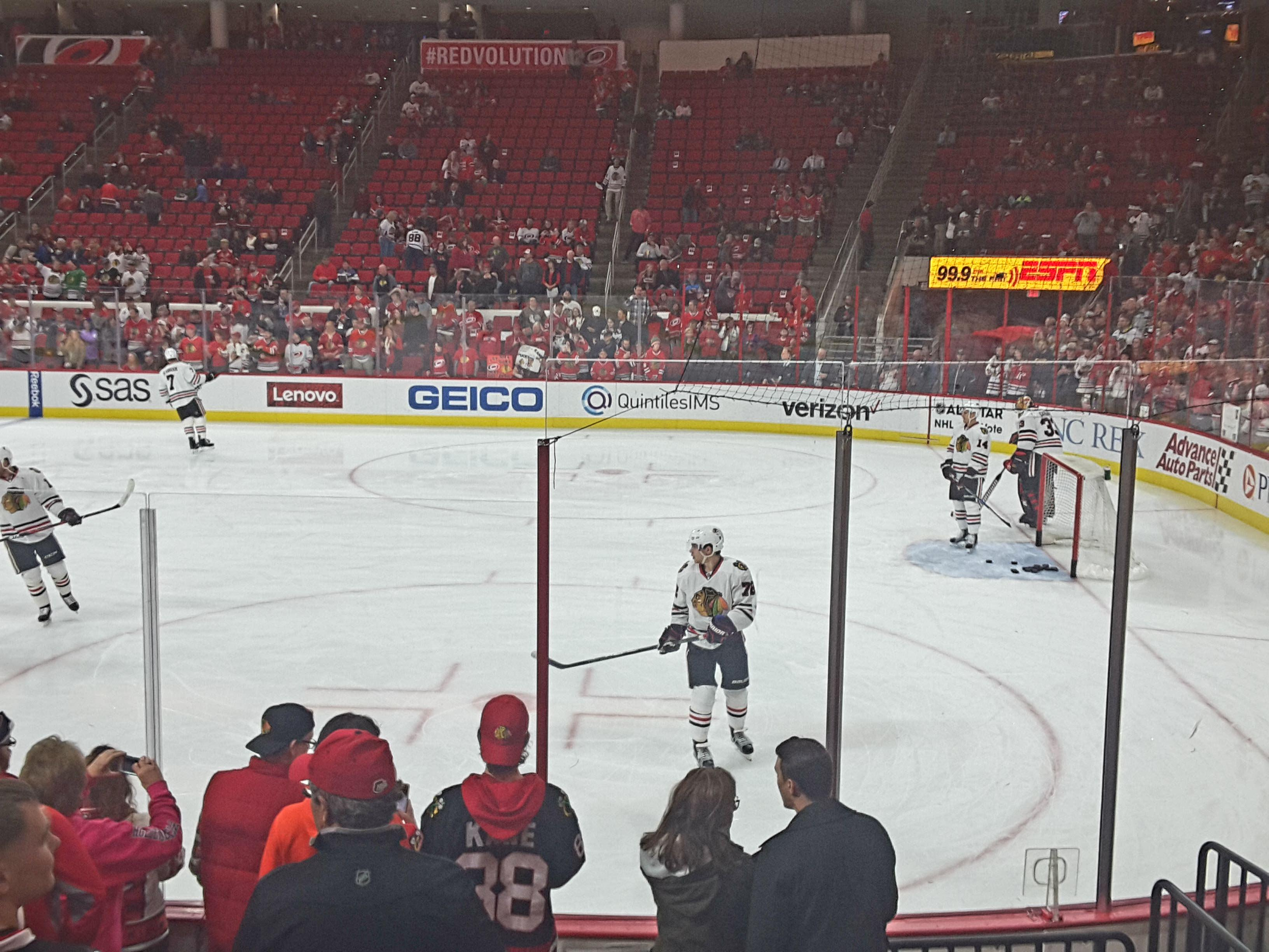 PNC Arena Section 101 Row H Seat 2,3,4,5