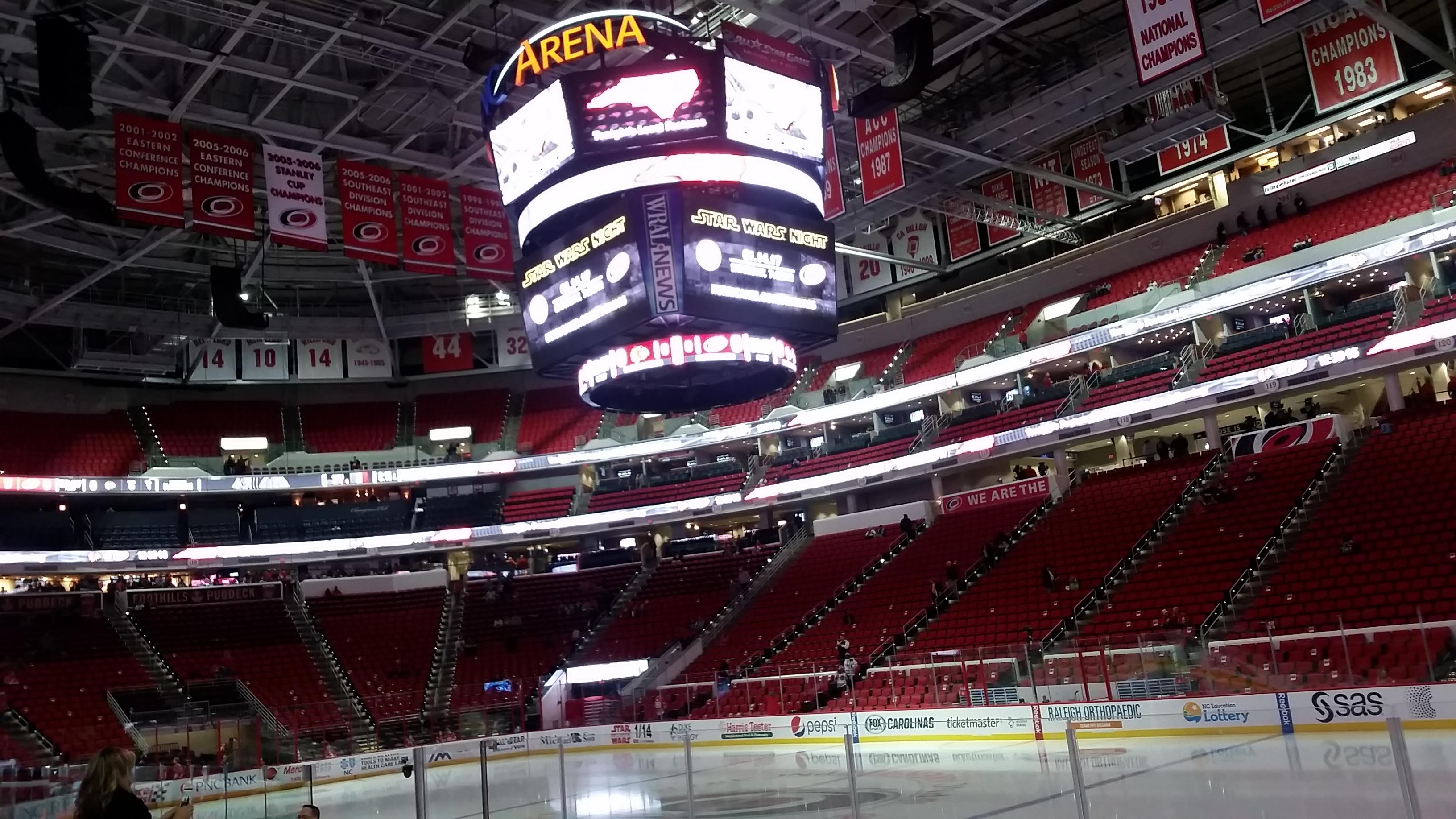PNC Arena Section 101 Row H Seat 3