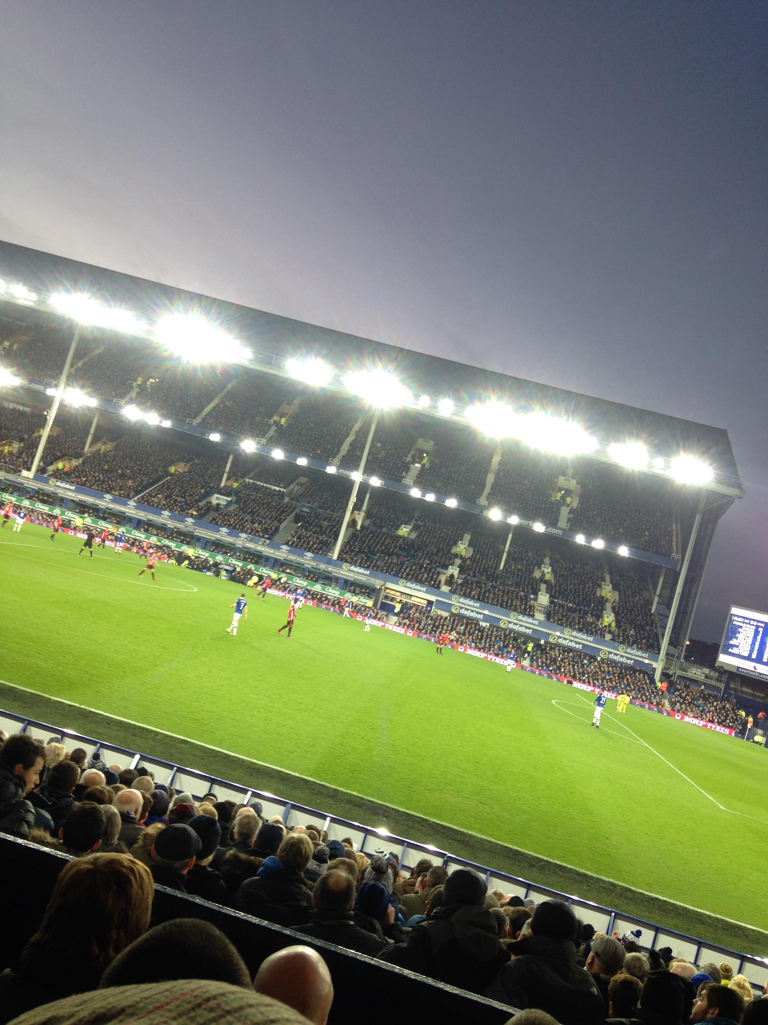 Goodison Park Section LB4 Row D Seat 204