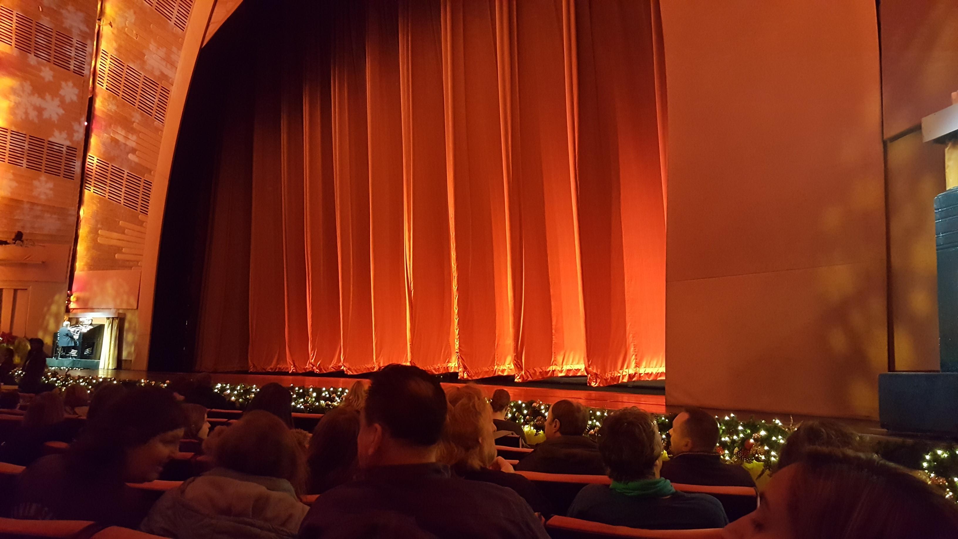 Radio City Music Hall Section Orchestra 2 Row JJ Seat 201