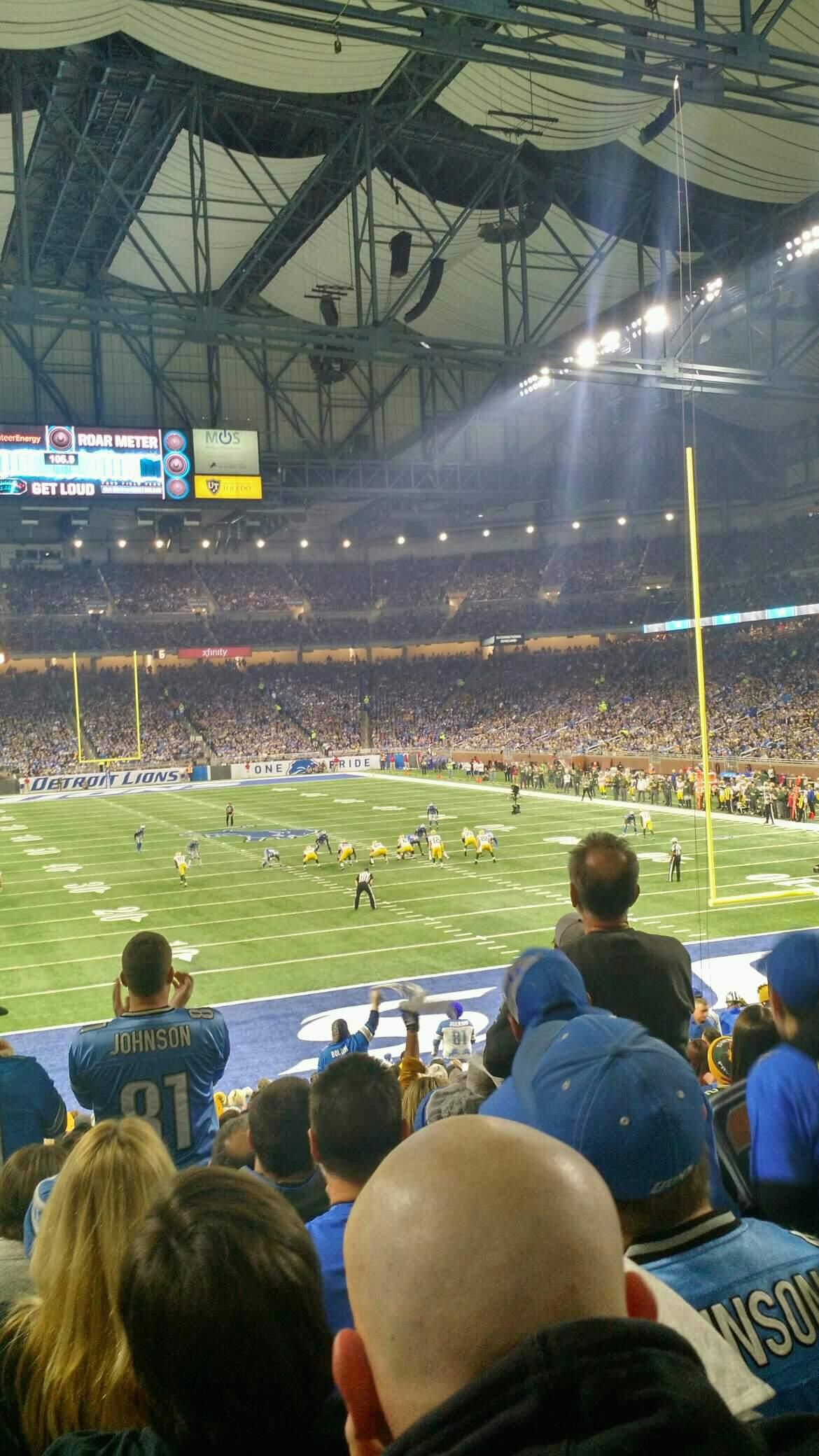 Ford Field Section 115 Row 25 Seat 8