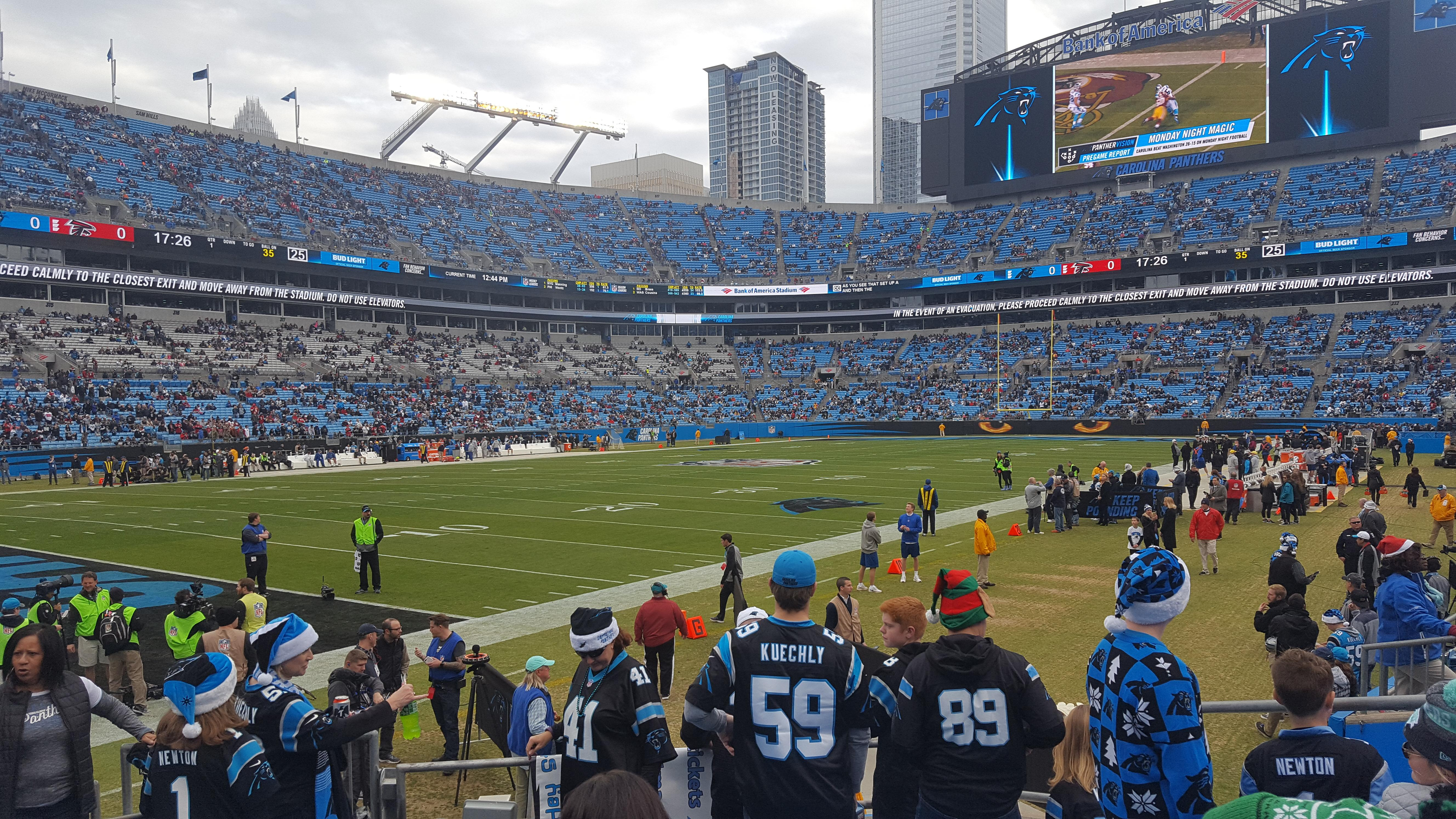 Bank of America Stadium Section 137 Row 7 Seat 21