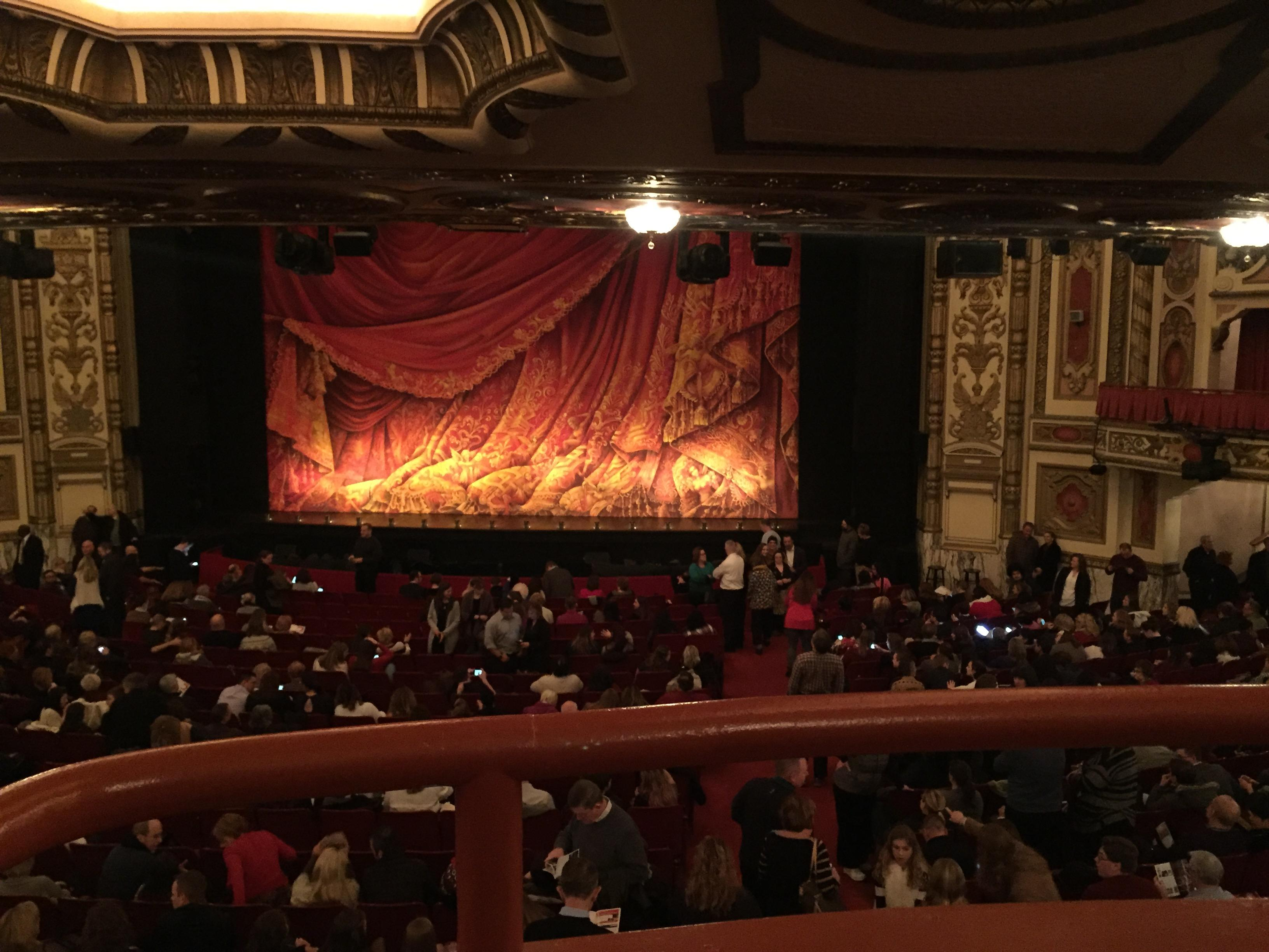 Cadillac Palace Theater Section dress circle rc Row A Seat 224