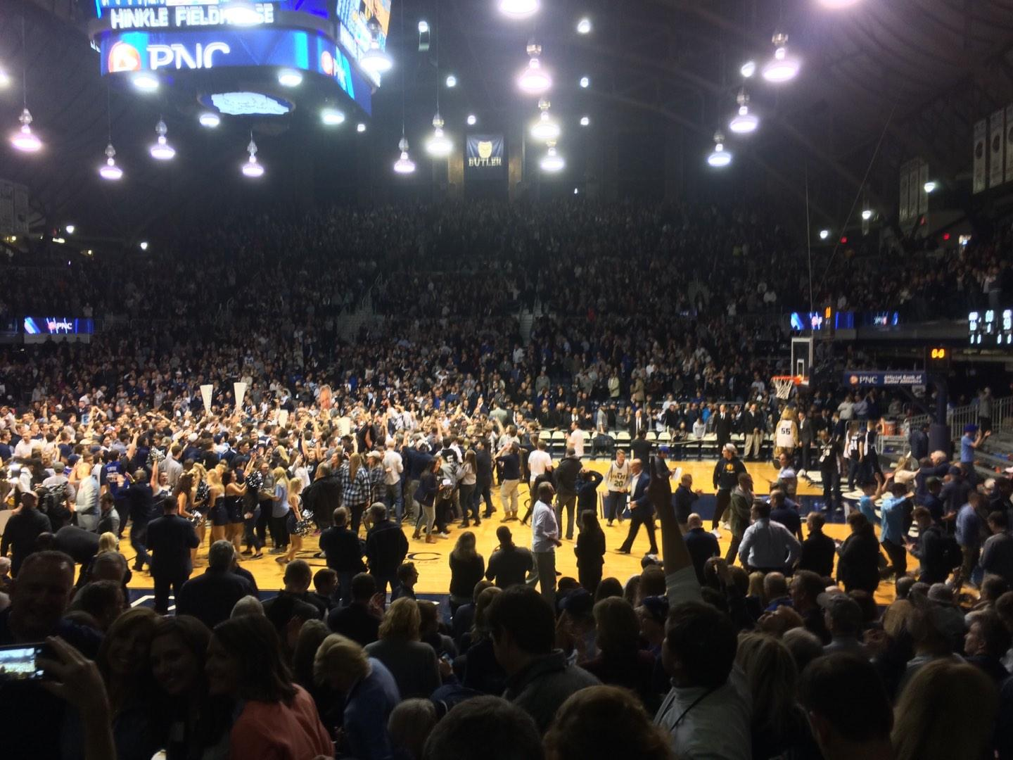 Hinkle Fieldhouse Section 121 Row 11 Seat 10