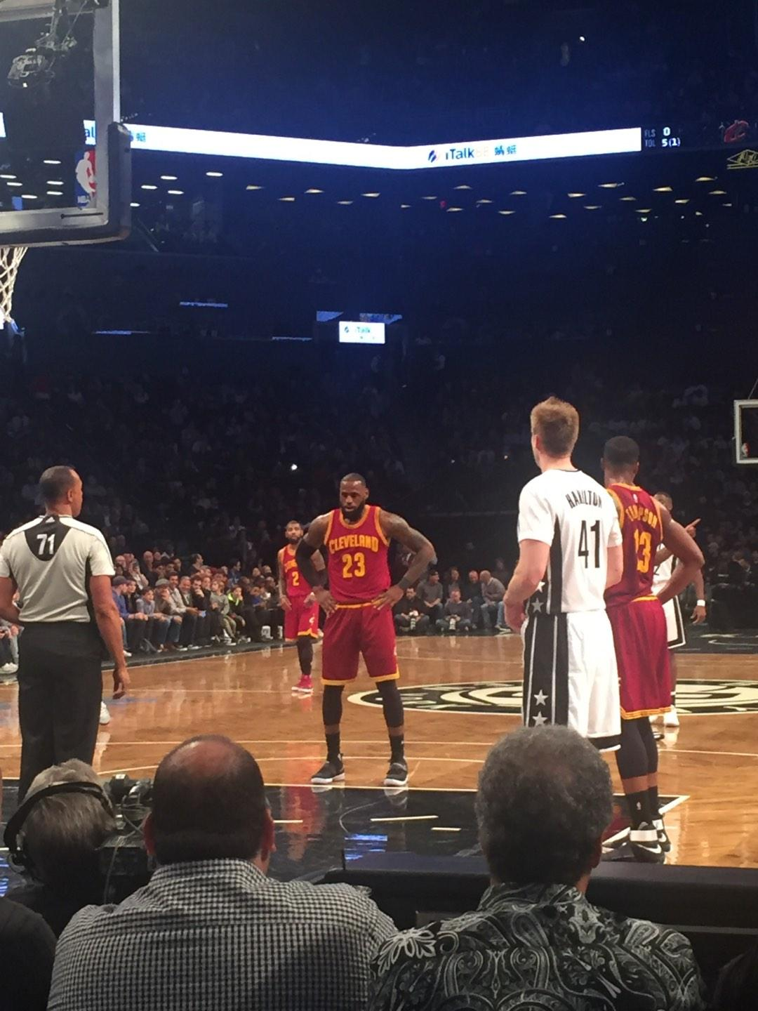 Barclays Center Section 16 Row C Seat 1