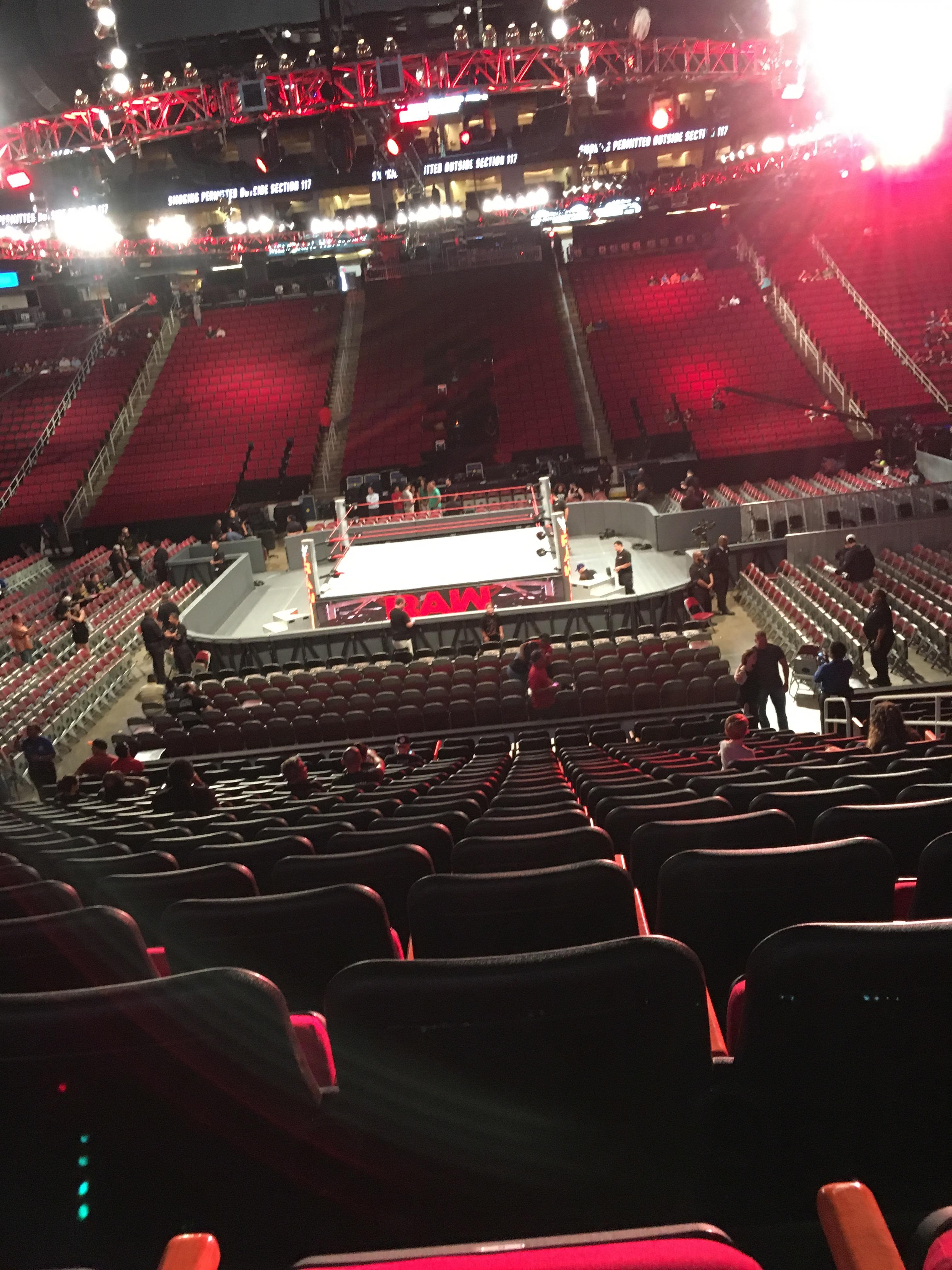 Toyota Center Section 107 Row 18 Seat 8