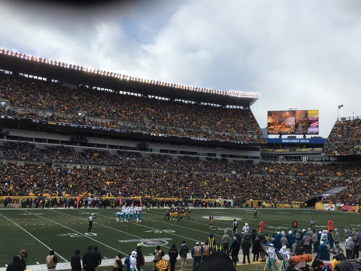 Heinz Field Section 107 Row BB Seat 10