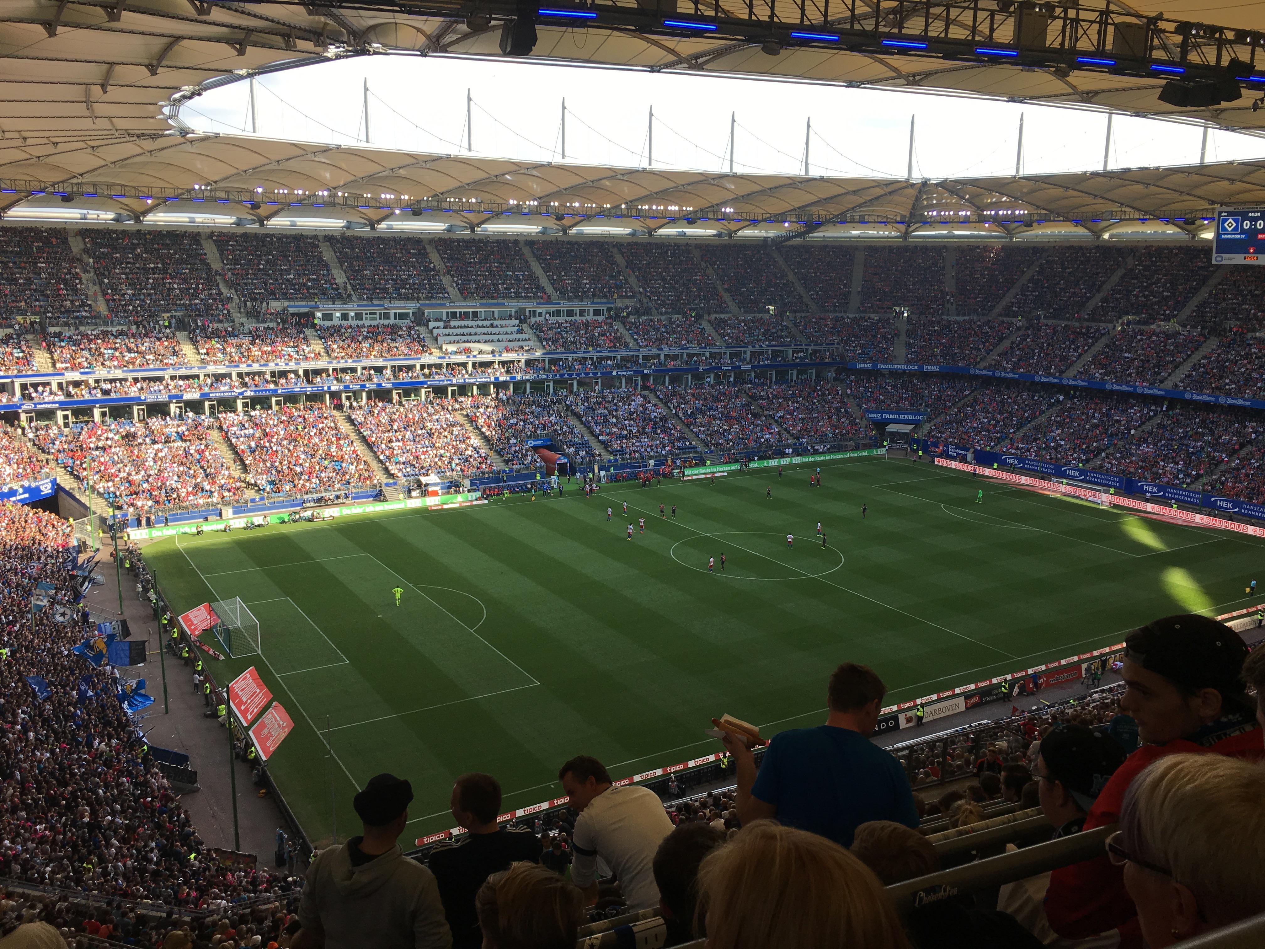 Volksparkstadion Section 21C Row 15 Seat 29