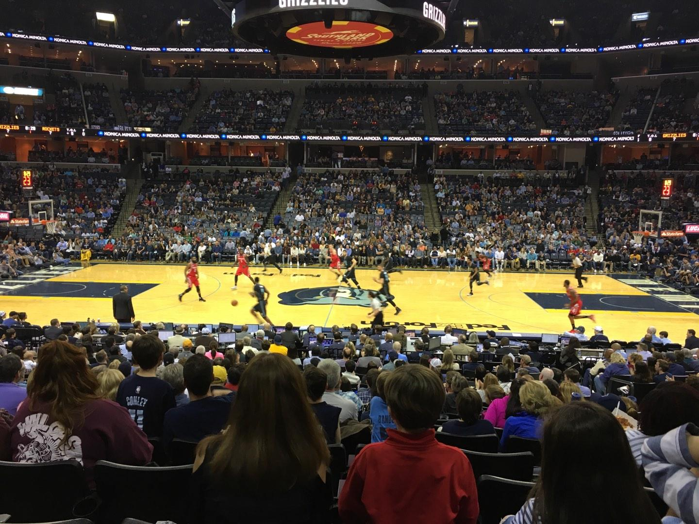 FedEx Forum Section 105 Row T Seat 7