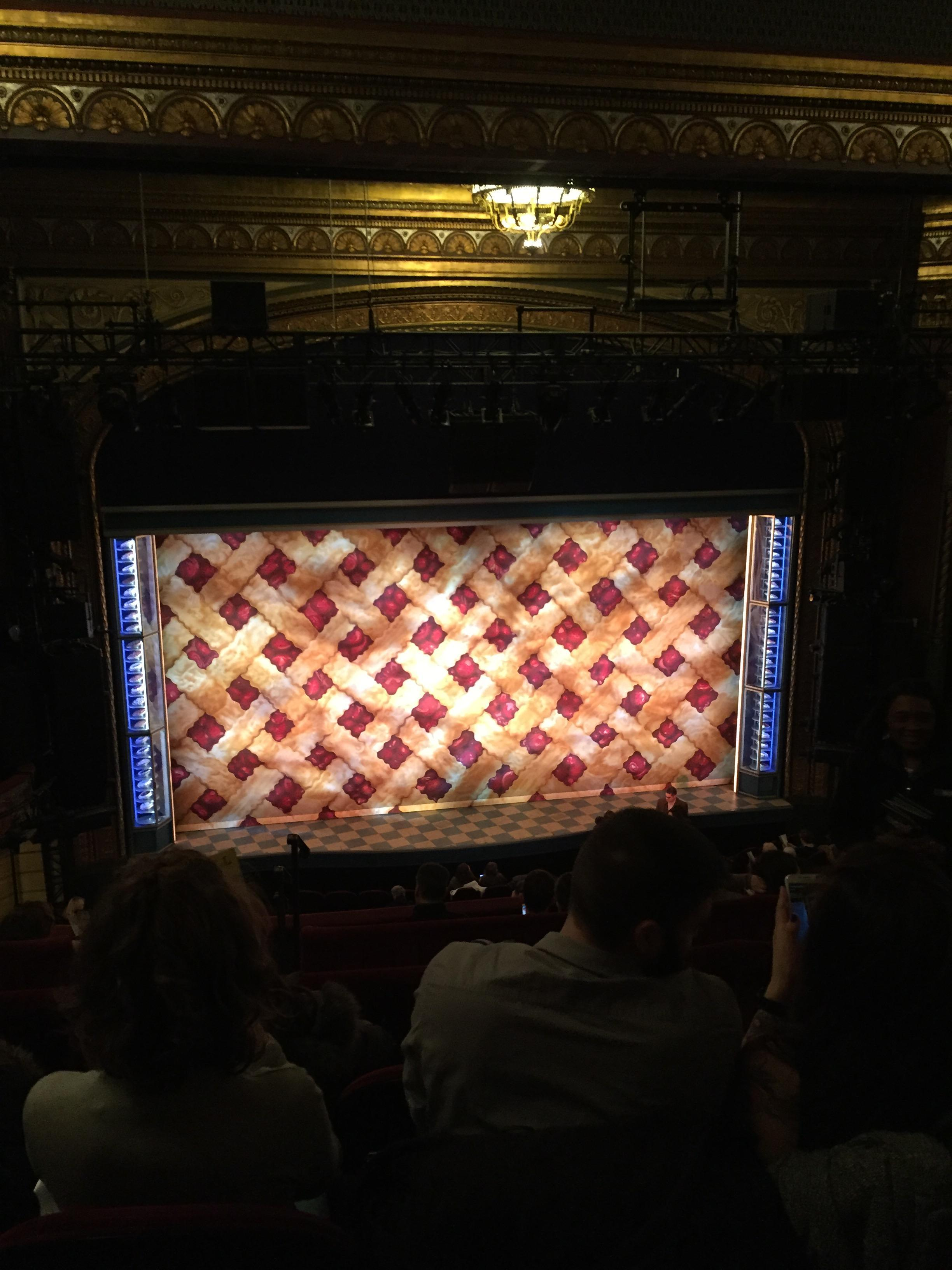 Brooks Atkinson Theatre Section Rear Mezzanine LC Row H Seat 121