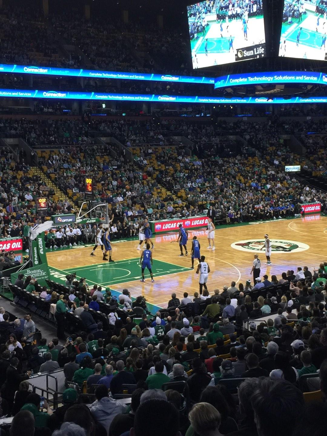 TD Garden Section Loge 15W Row 15 Seat 6