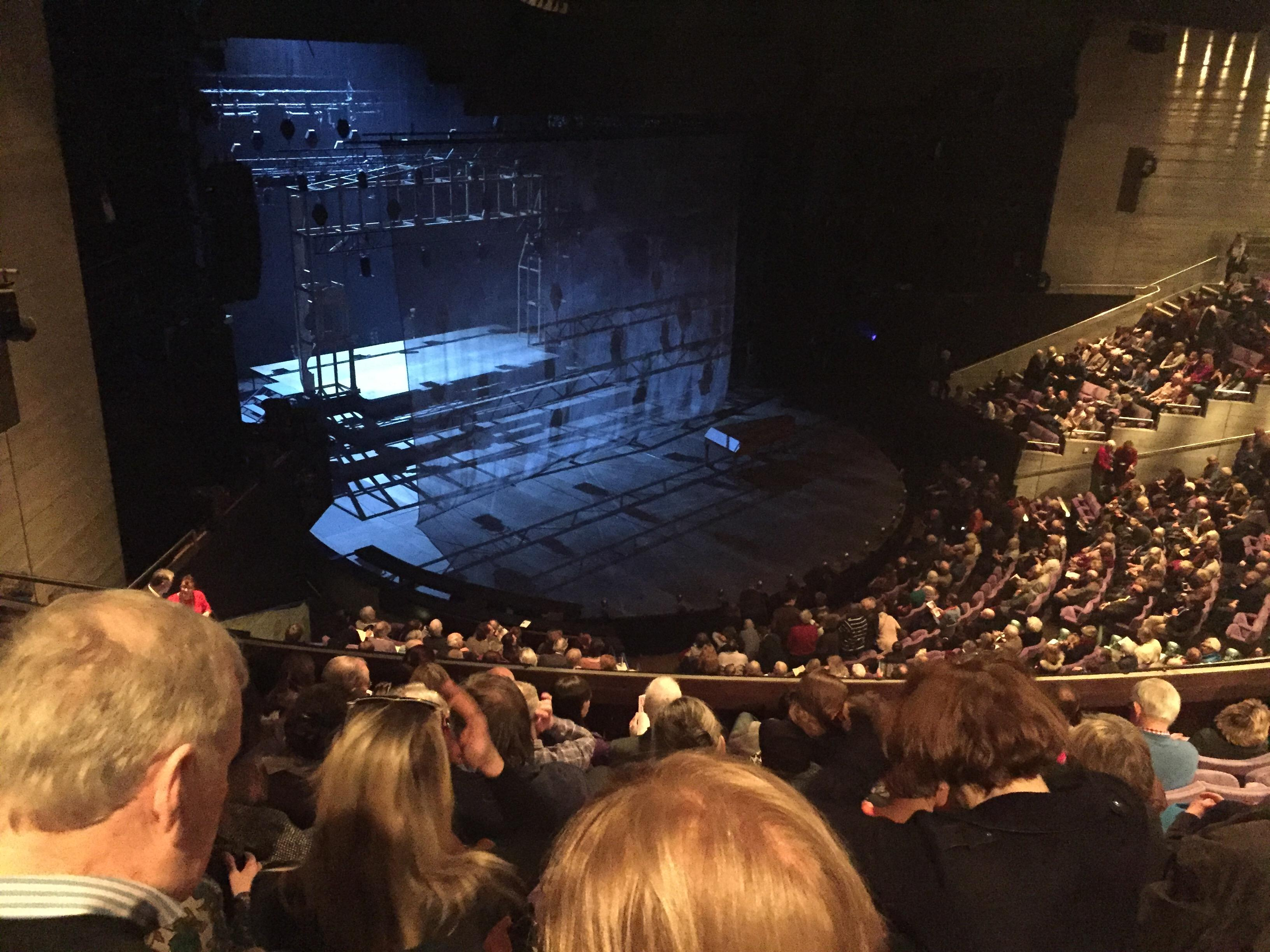 The Olivier Theatre at the National Theatre Section Balcony Row G Seat 77