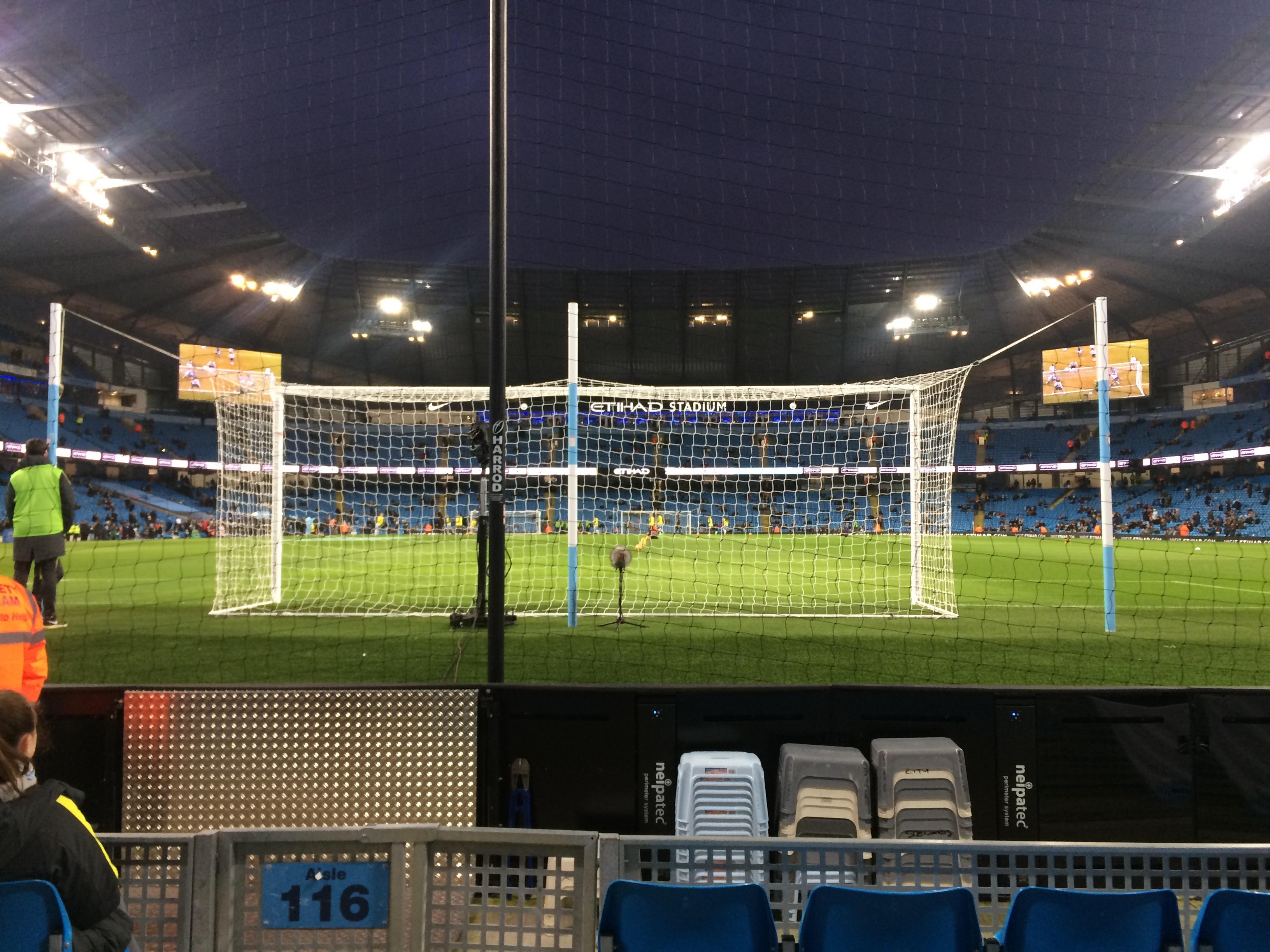 Etihad Stadium (Manchester) Section 115 Row B Seat 409