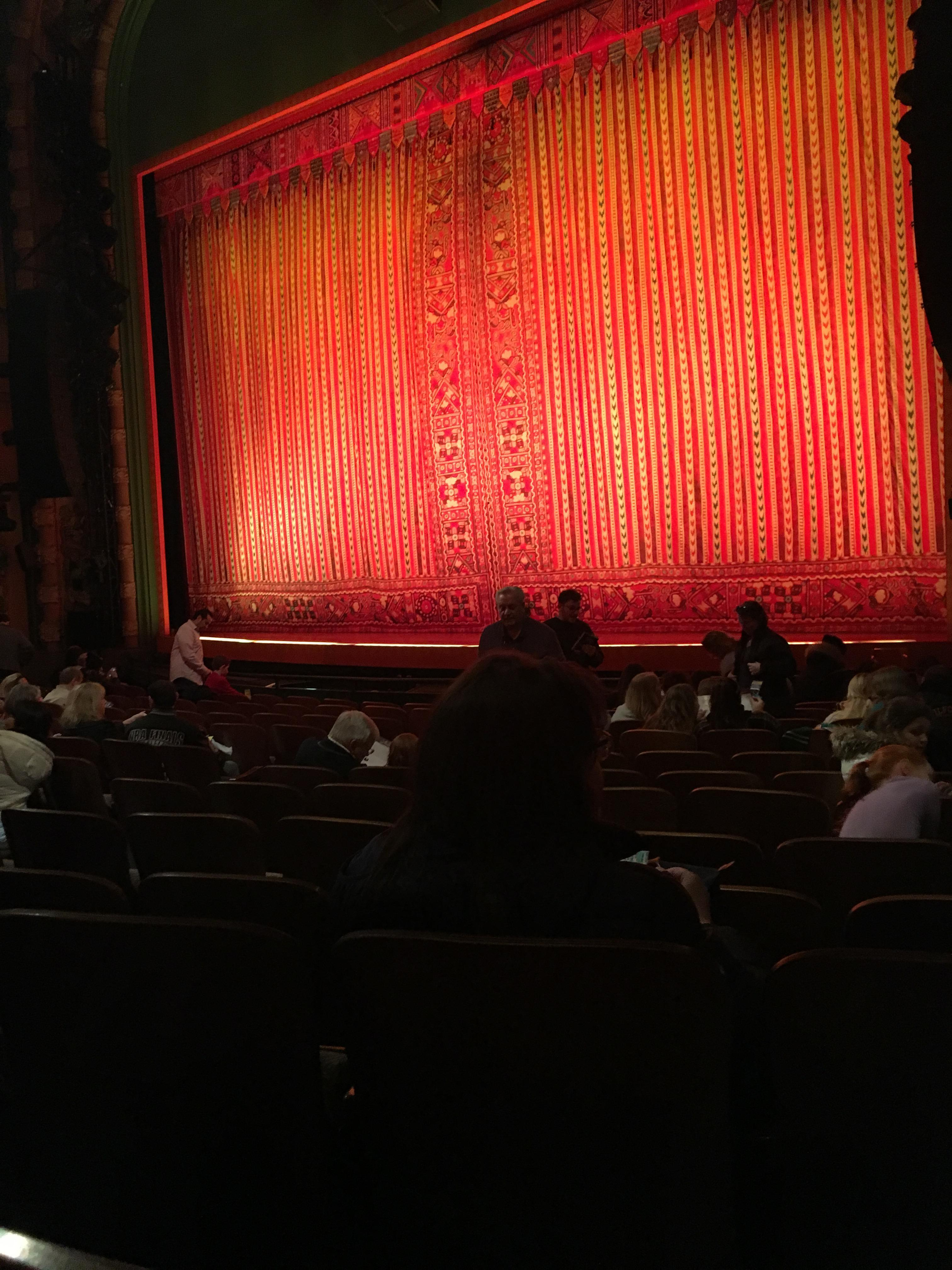 New Amsterdam Theatre Section Orchestra R Row M  Seat 18