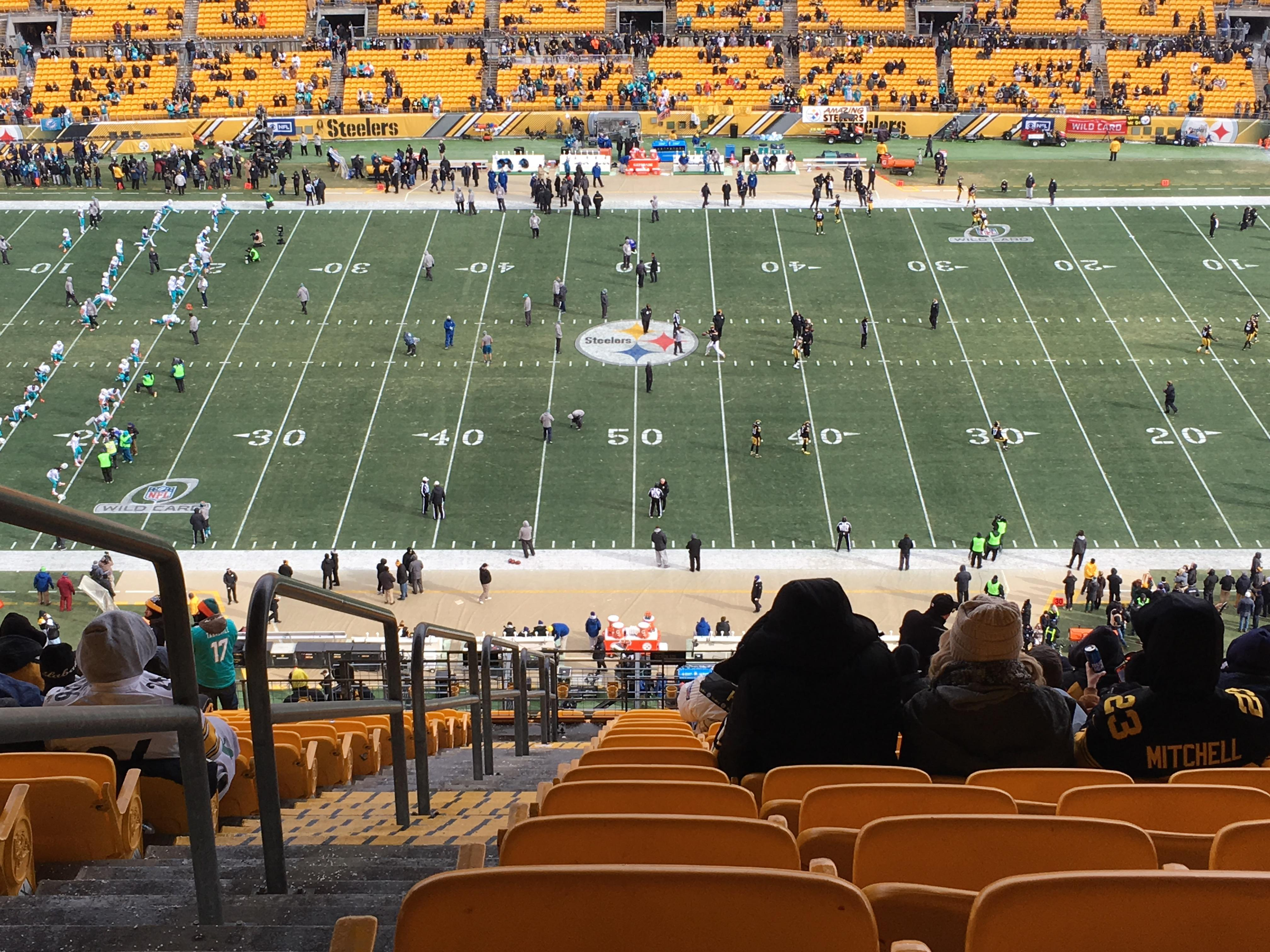 Heinz Field Section 535 Row CC Seat 26