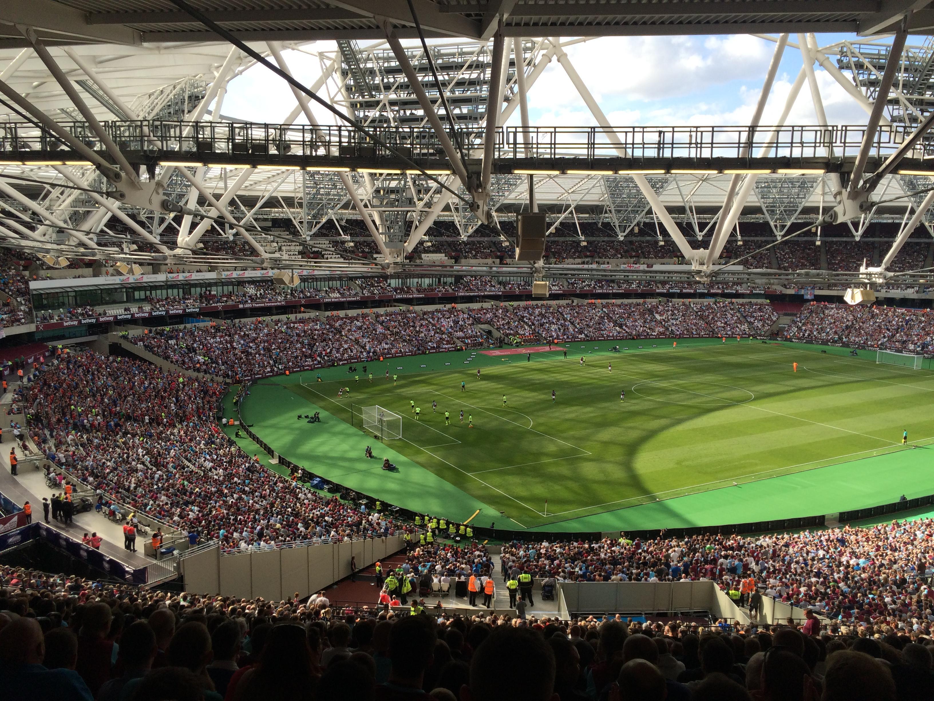 London Stadium Section 229 Row 69 Seat 664