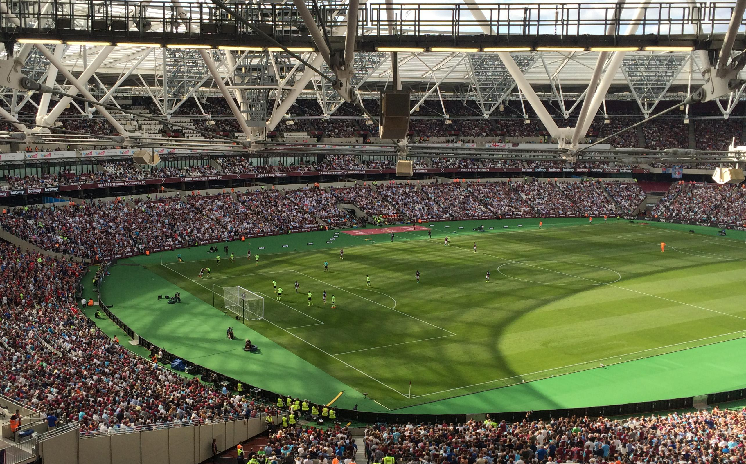 London Stadium Section 229 Row 63 Seat 664
